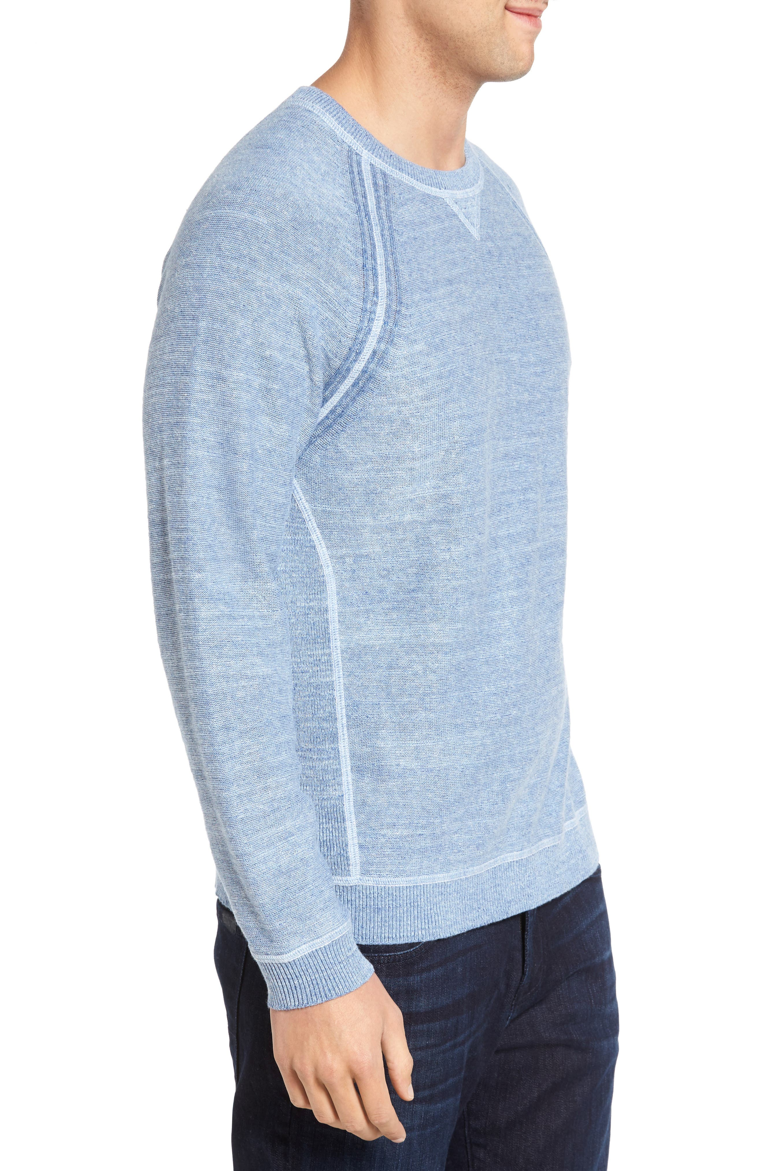 Sandy Bay Reversible Crewneck Sweater,                             Alternate thumbnail 4, color,                             100