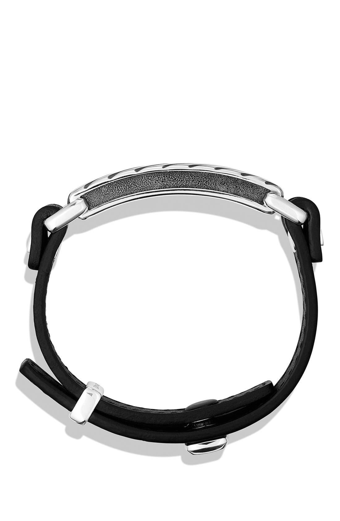 Modern Cable ID Bracelet,                             Alternate thumbnail 2, color,                             BLACK
