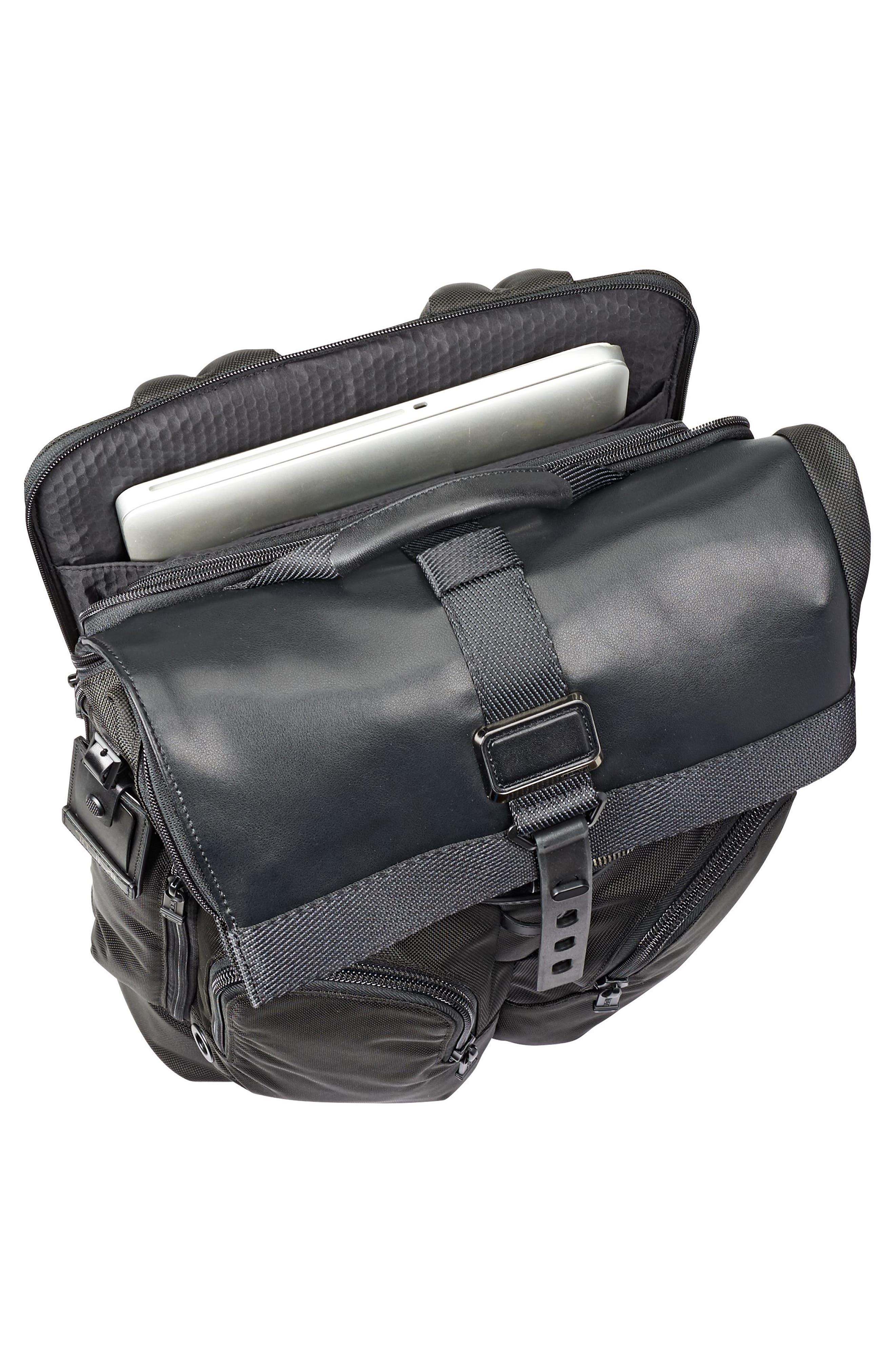 Alpha Bravo - London Backpack,                             Alternate thumbnail 3, color,                             BLACK