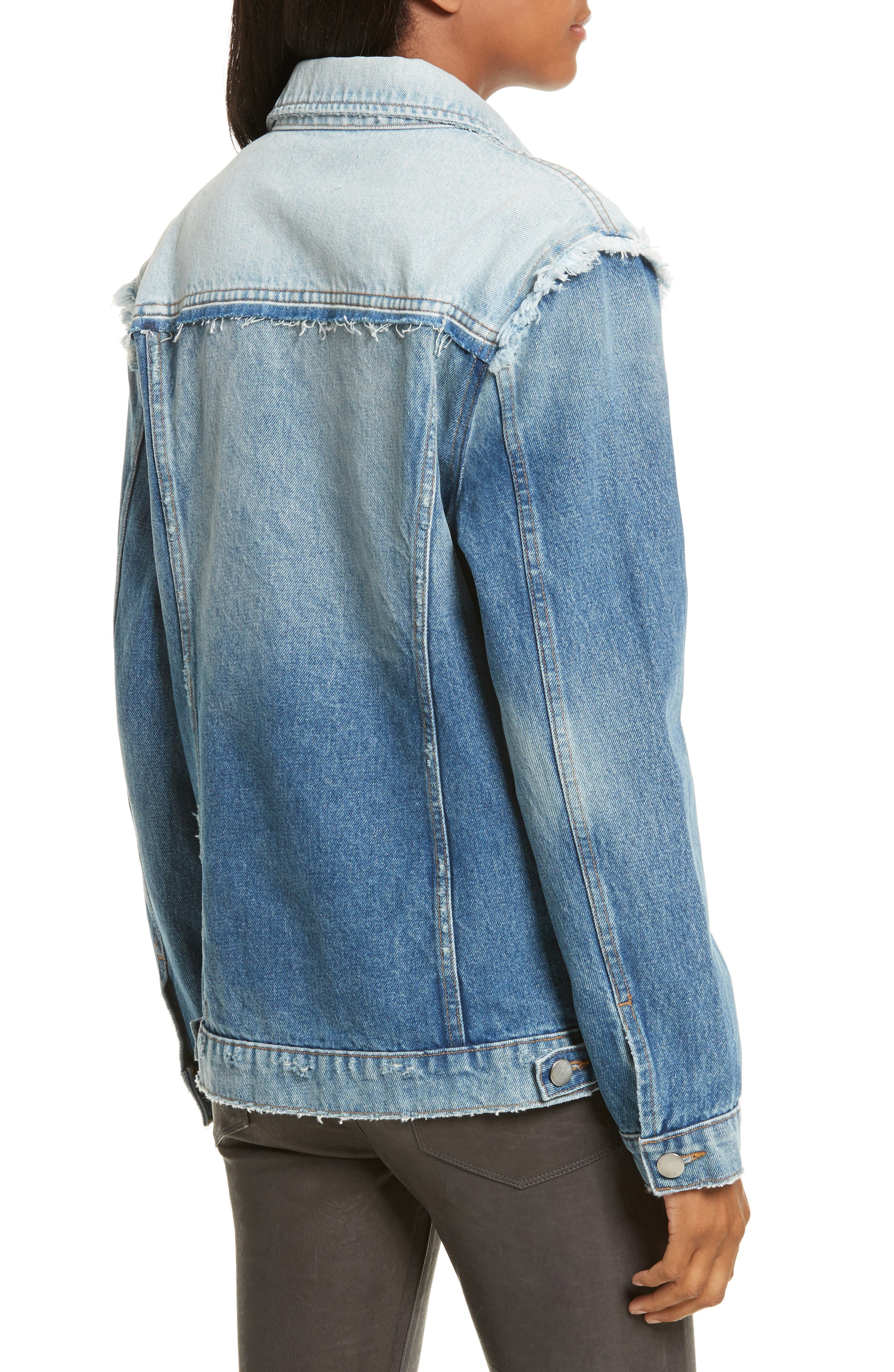 Le Reconstructed Denim Jacket,                             Alternate thumbnail 2, color,                             451