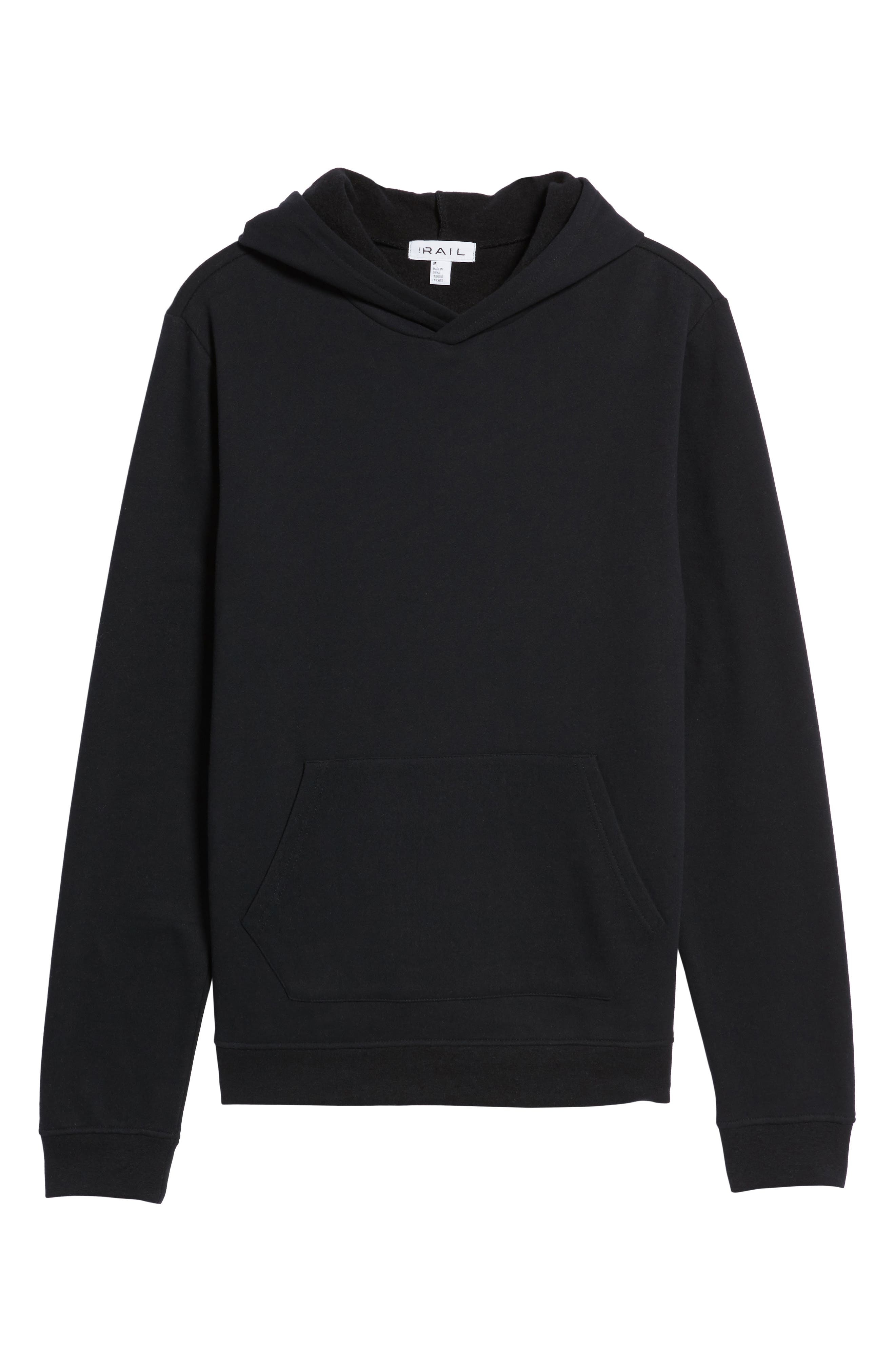 Fleece Hoodie,                             Alternate thumbnail 6, color,                             001