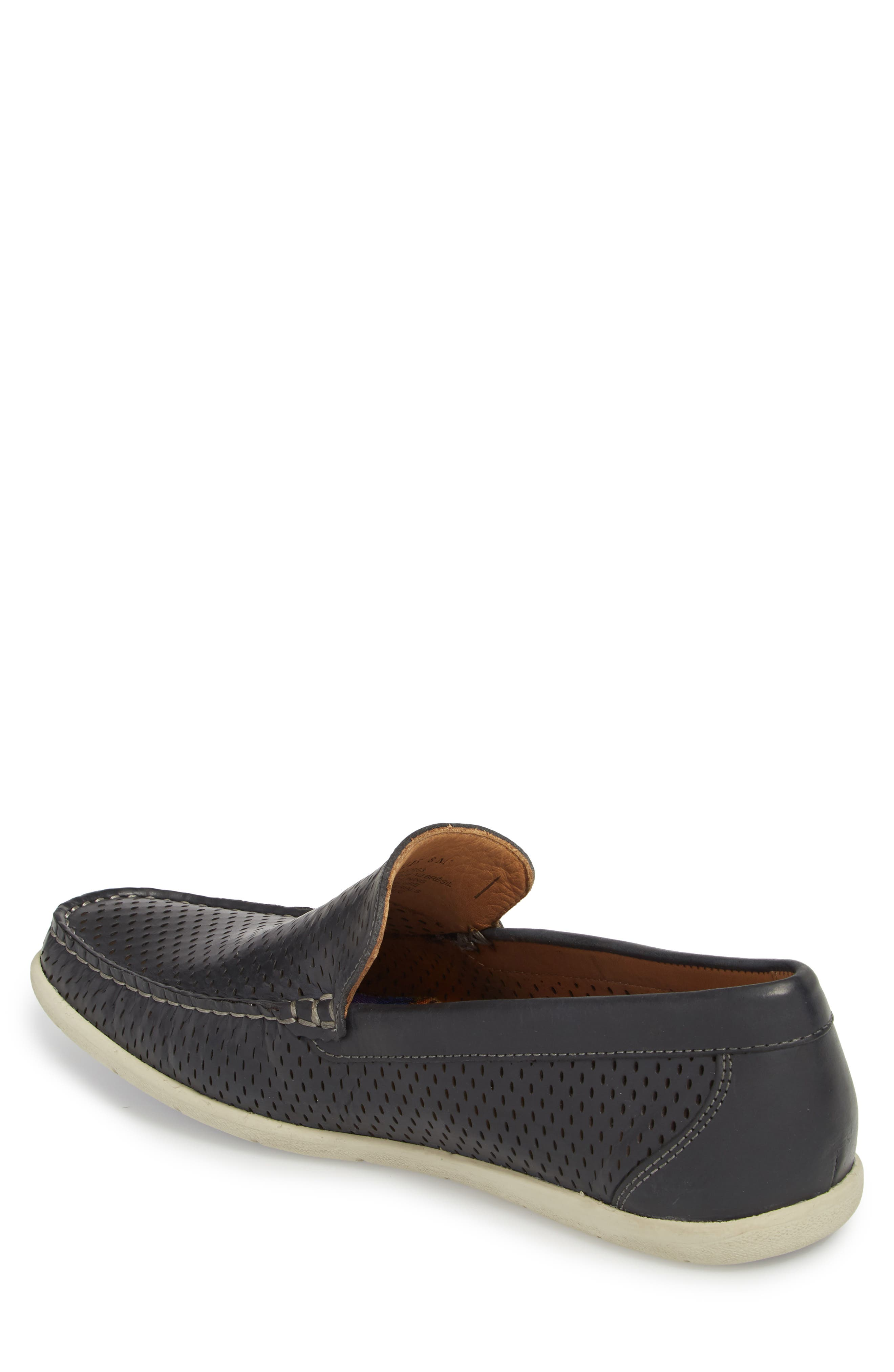 Manhattan Loafer,                             Alternate thumbnail 2, color,                             NAVY LEATHER