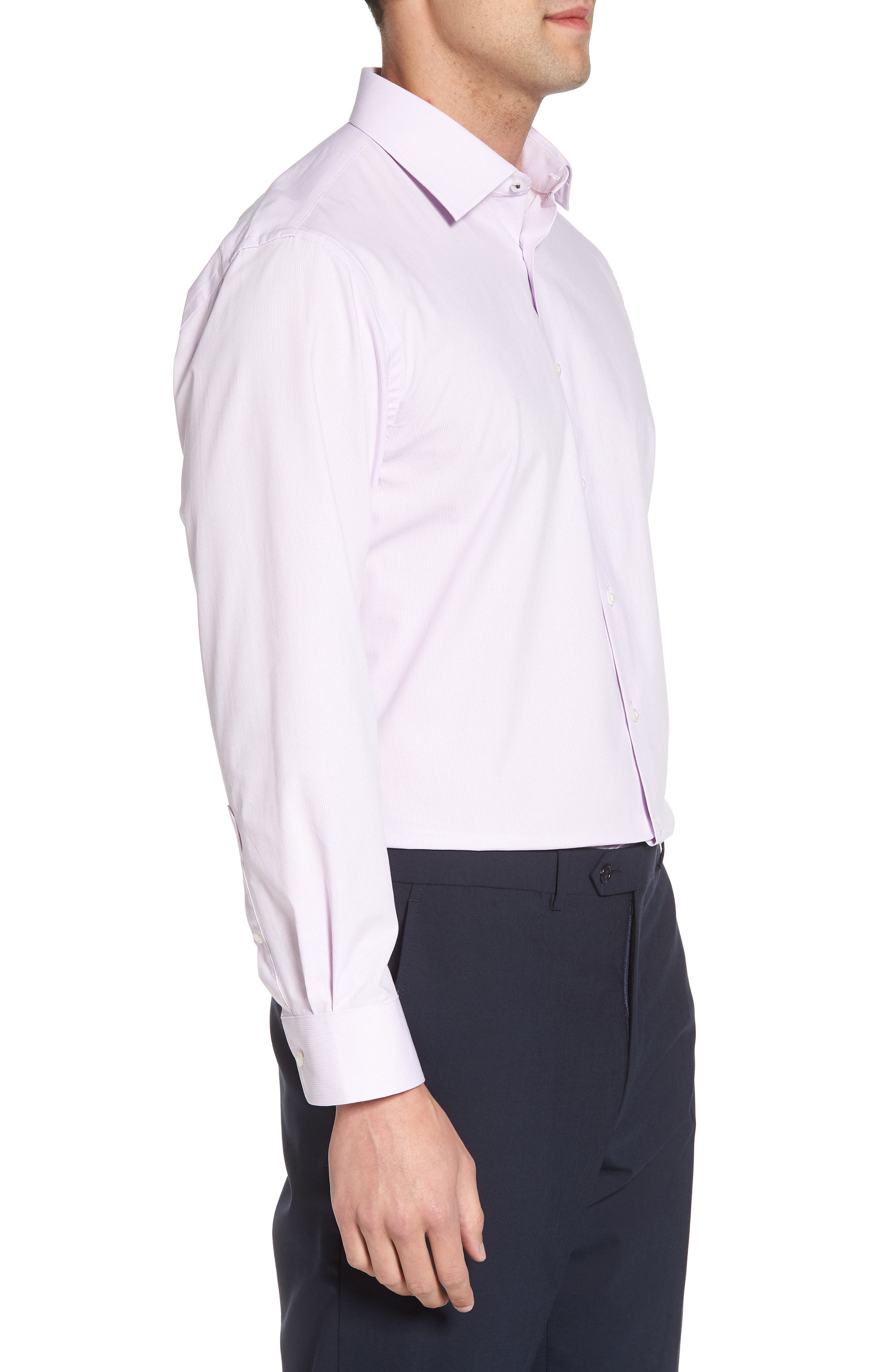 Tech-Smart Traditional Fit Stretch Microdot Dress Shirt,                             Alternate thumbnail 8, color,
