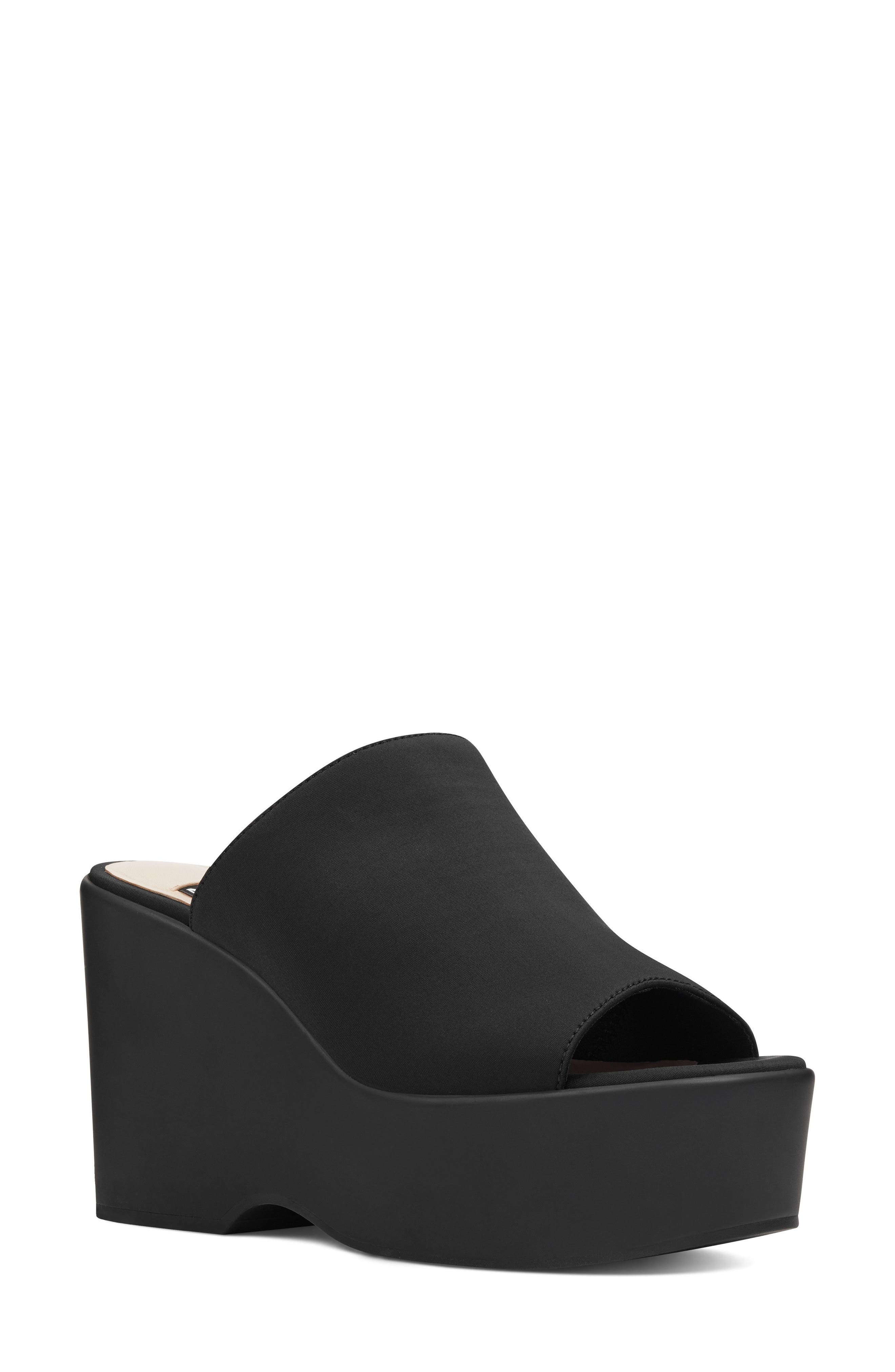 Tomo - 40th Anniversary Capsule Collection Platform Sandal,                             Main thumbnail 1, color,                             BLACK FABRIC