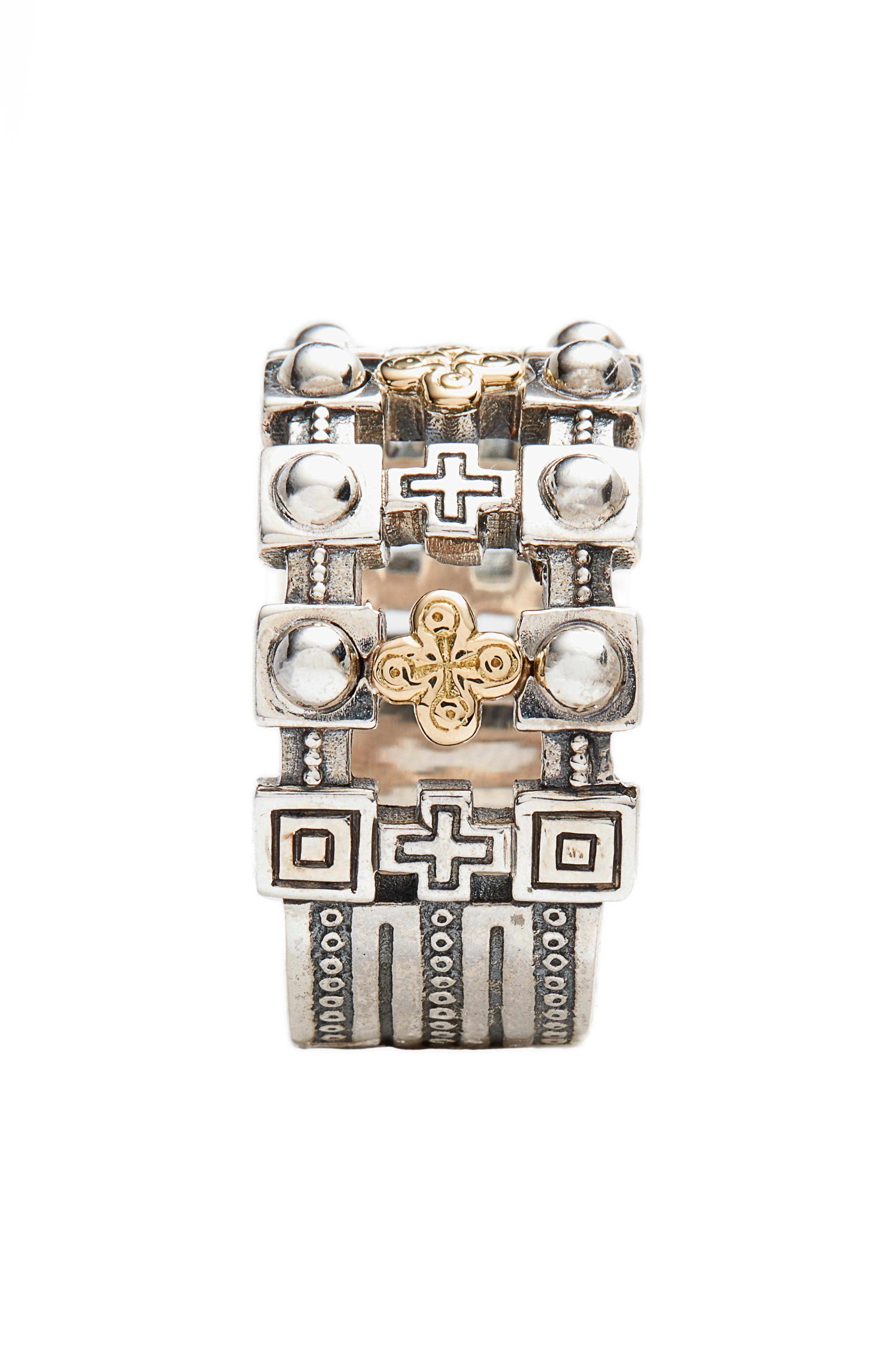 Stavros Openwork Ring,                             Alternate thumbnail 2, color,                             SILVER/ GOLD