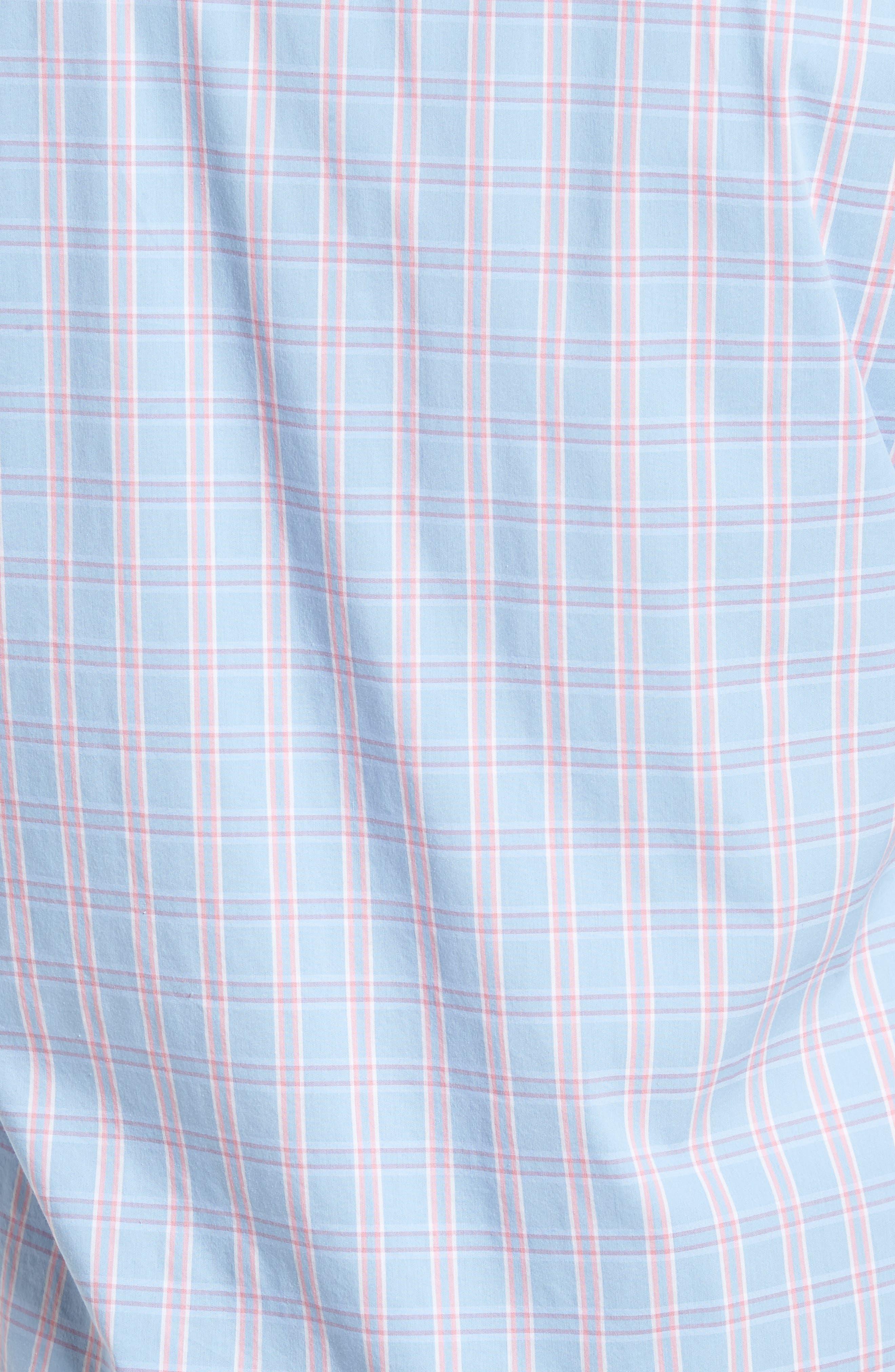 Unbutton Down 2.0 Slim Fit Check Sport Shirt,                             Alternate thumbnail 5, color,