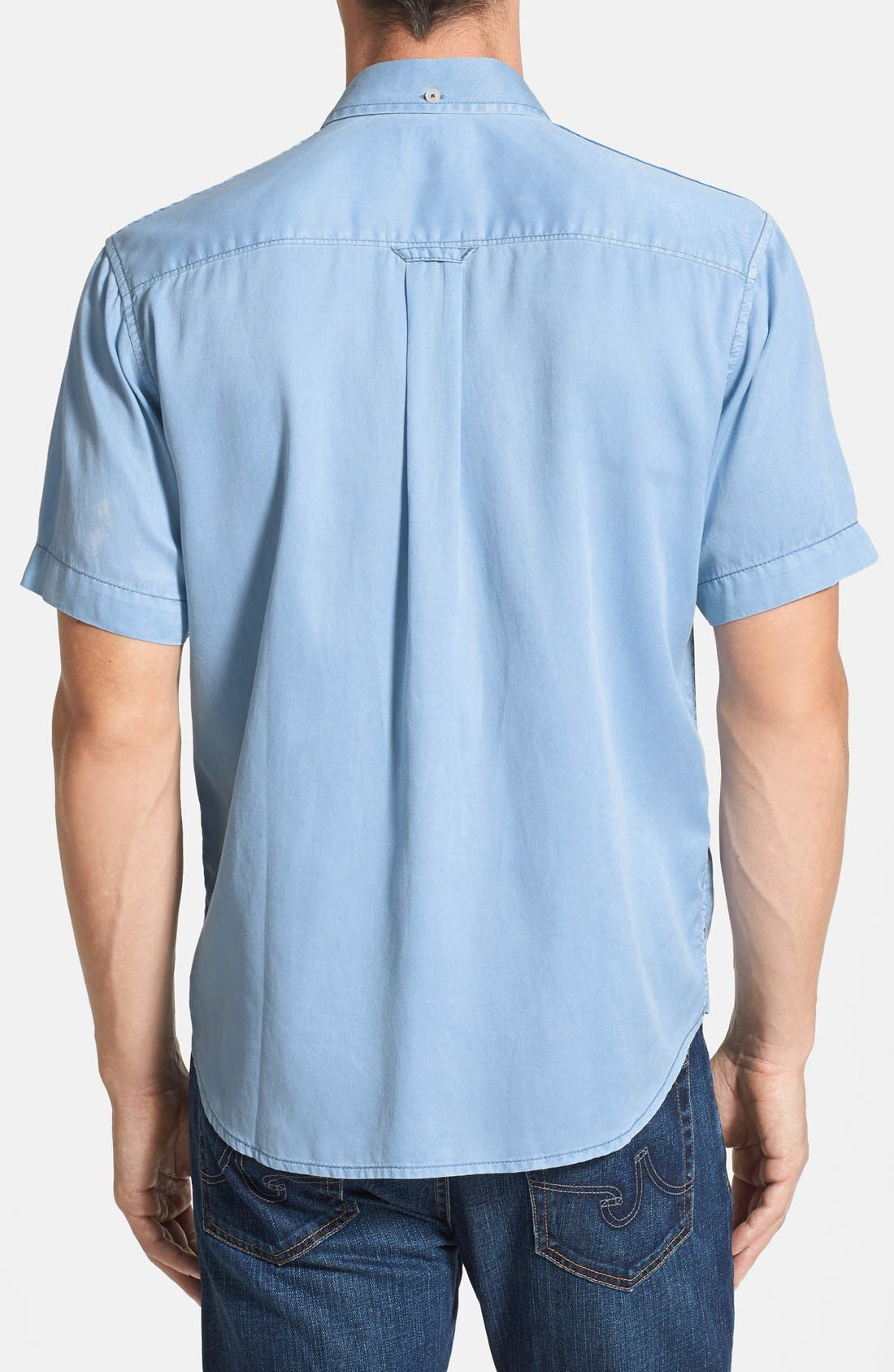 'New Twilly' Island Modern Fit Short Sleeve Twill Shirt,                             Alternate thumbnail 23, color,