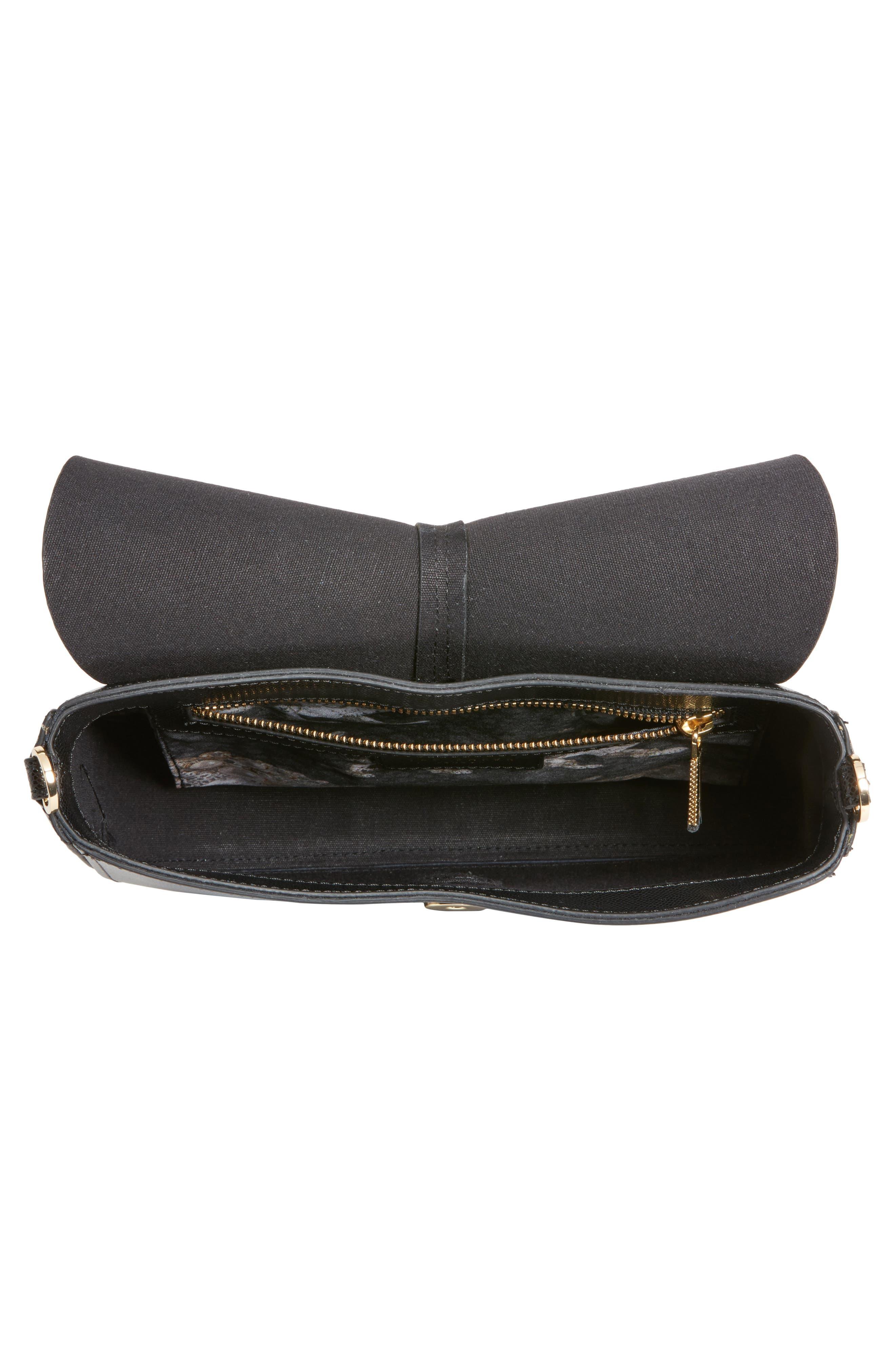 Kittii Cat Leather Crossbody Bag,                             Alternate thumbnail 4, color,                             001