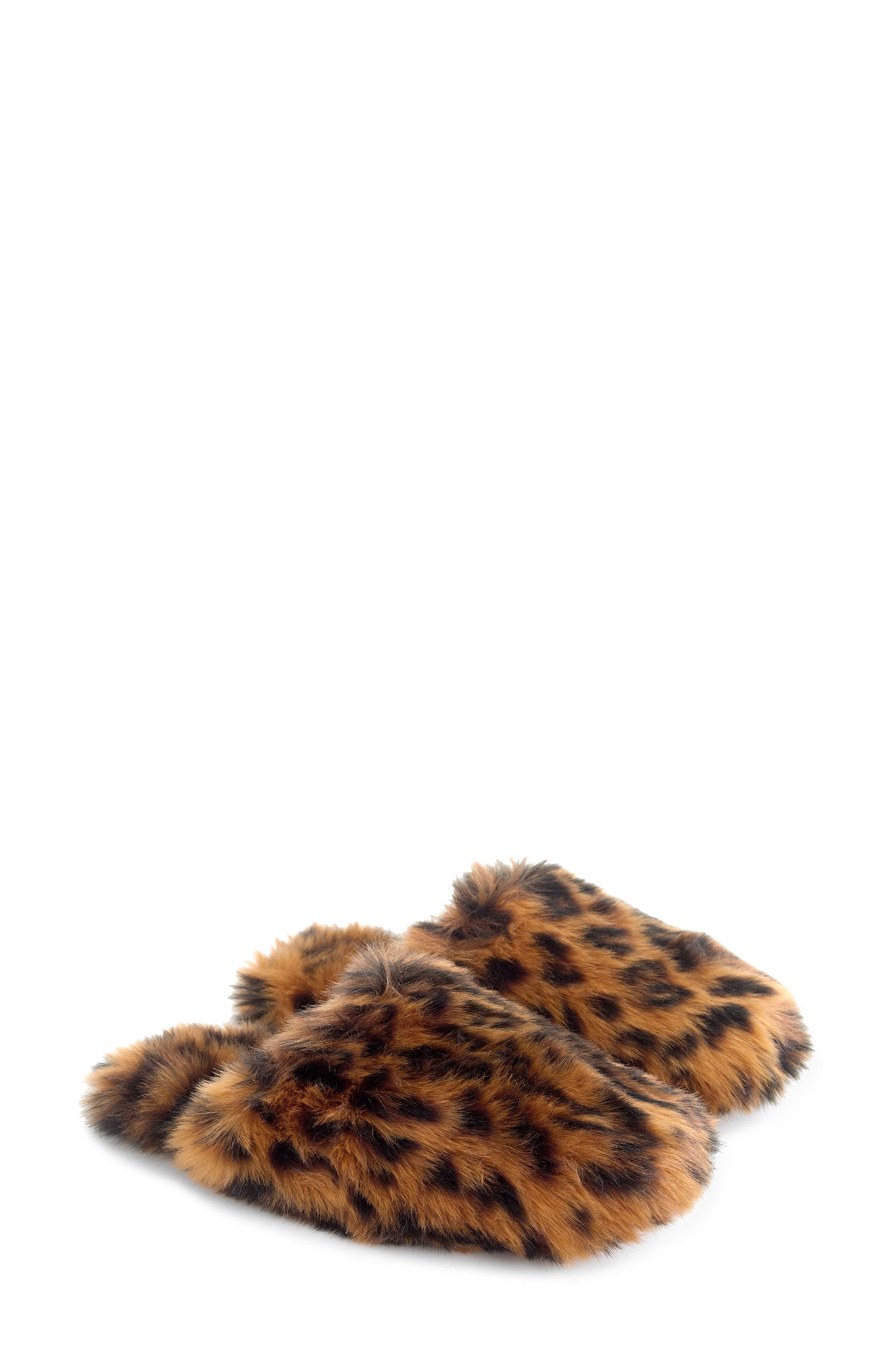 J.CREW Faux Fur Slipper, Main, color, 200