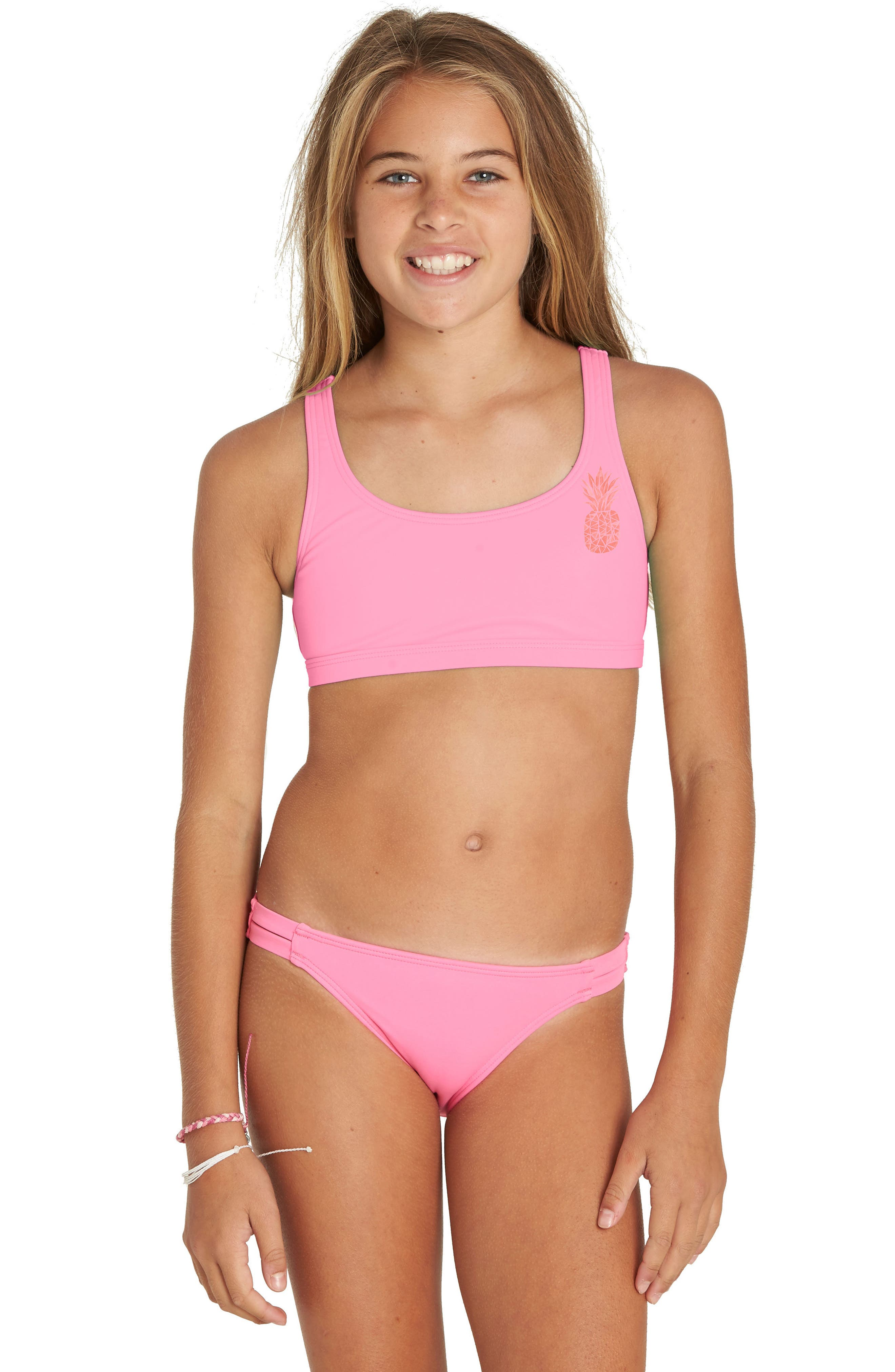Sol Searcher Two-Piece Swimsuit,                             Alternate thumbnail 2, color,                             TAHITI PINK
