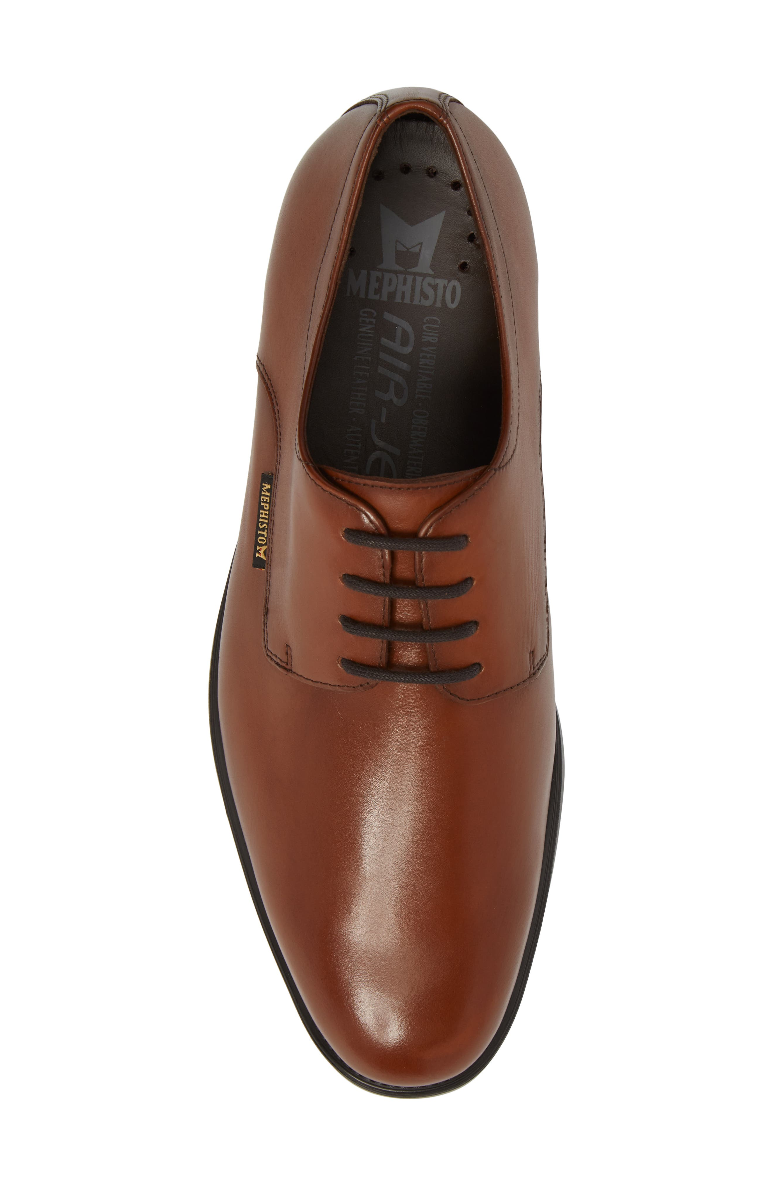 'Cooper' Plain Toe Derby,                             Alternate thumbnail 5, color,                             CHESTNUT LEATHER