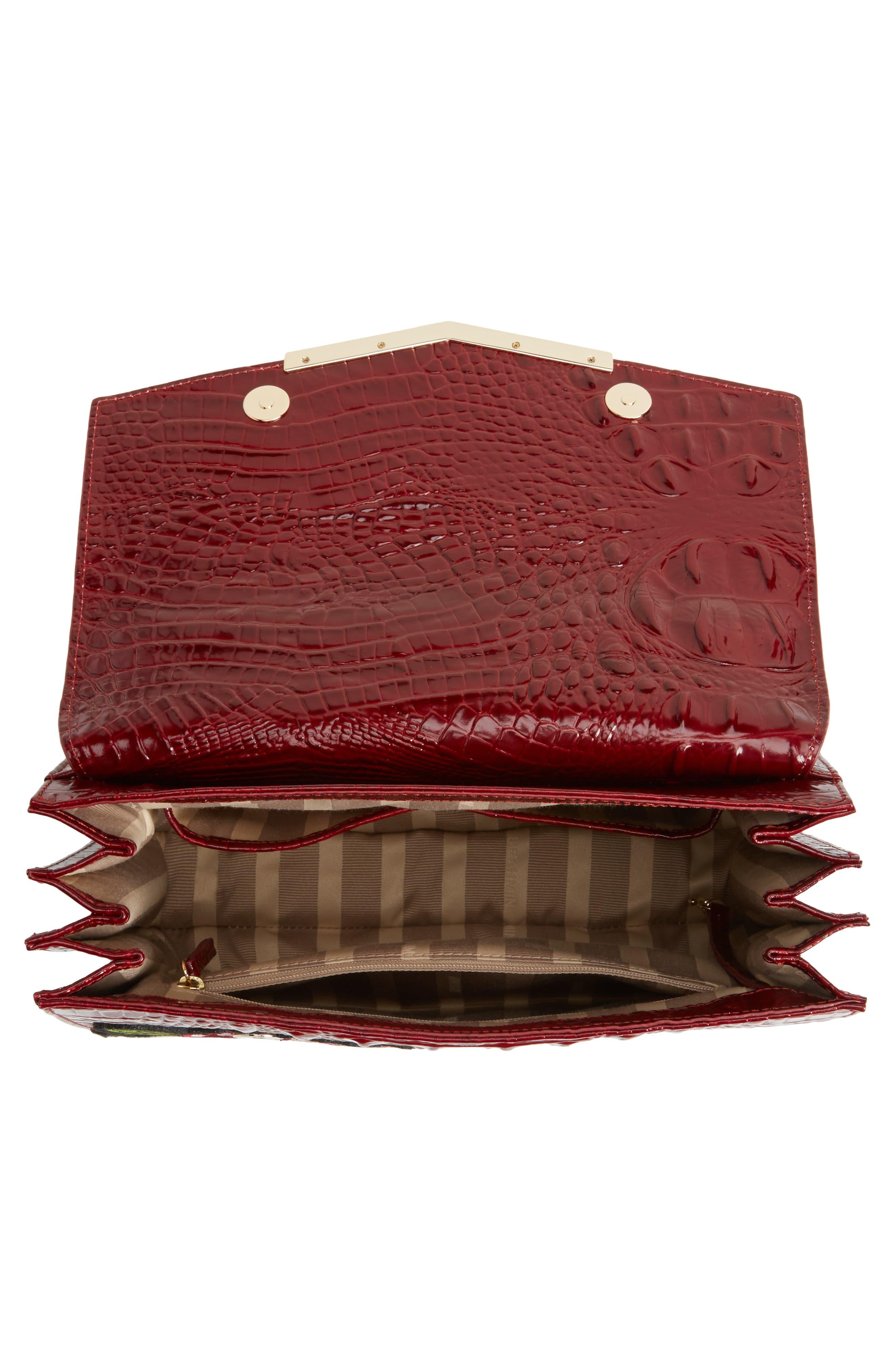 Chianti Rossini - Gabriella Leather Top Handle Satchel,                             Alternate thumbnail 4, color,                             644