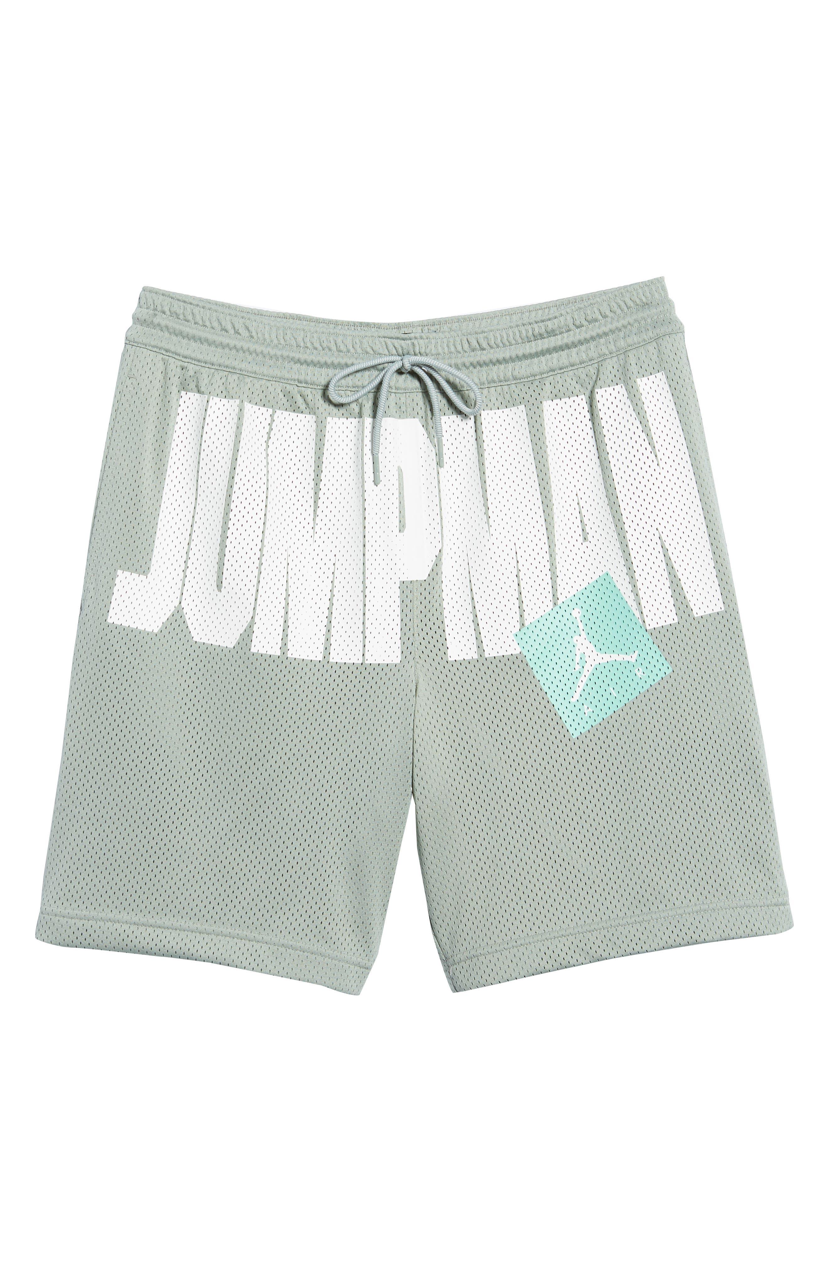 Nike Jumpman Air Mesh Shorts,                             Alternate thumbnail 6, color,                             MICA GREEN