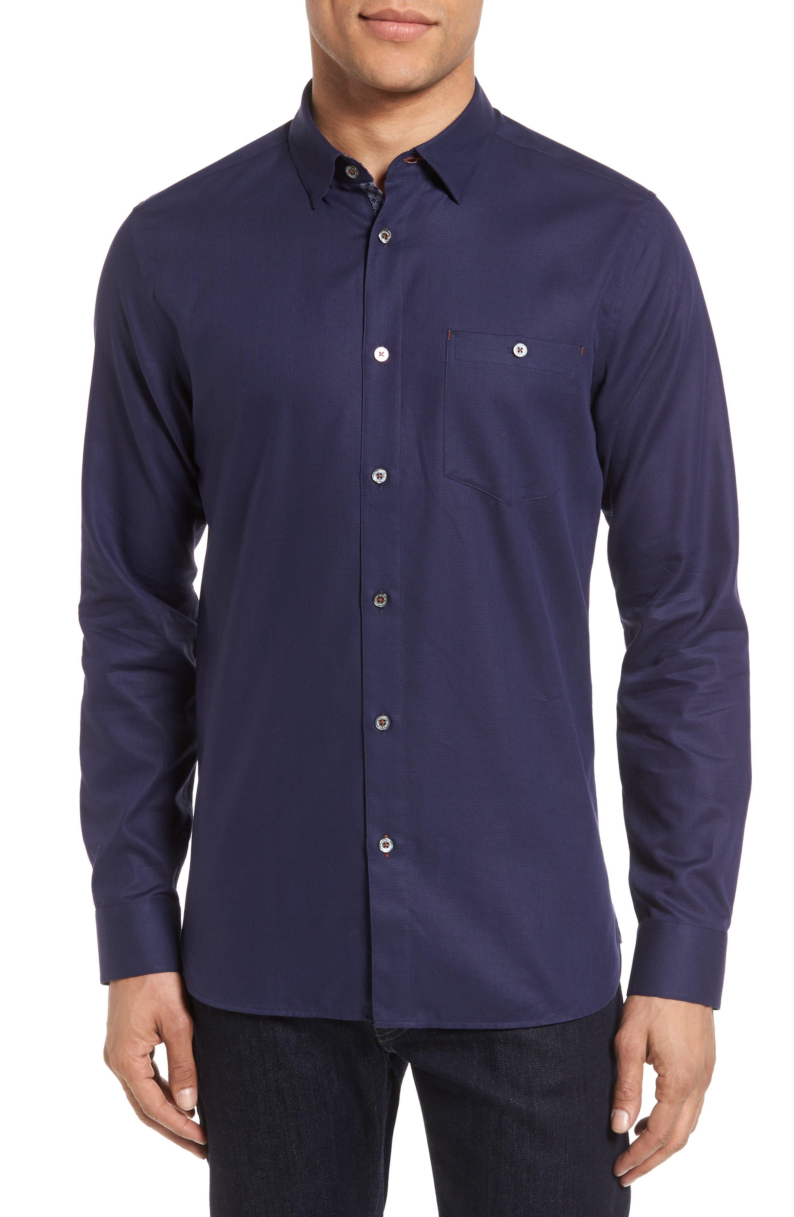 Nordlux Modern Slim Fit Stretch Cotton Sport Shirt,                             Main thumbnail 3, color,