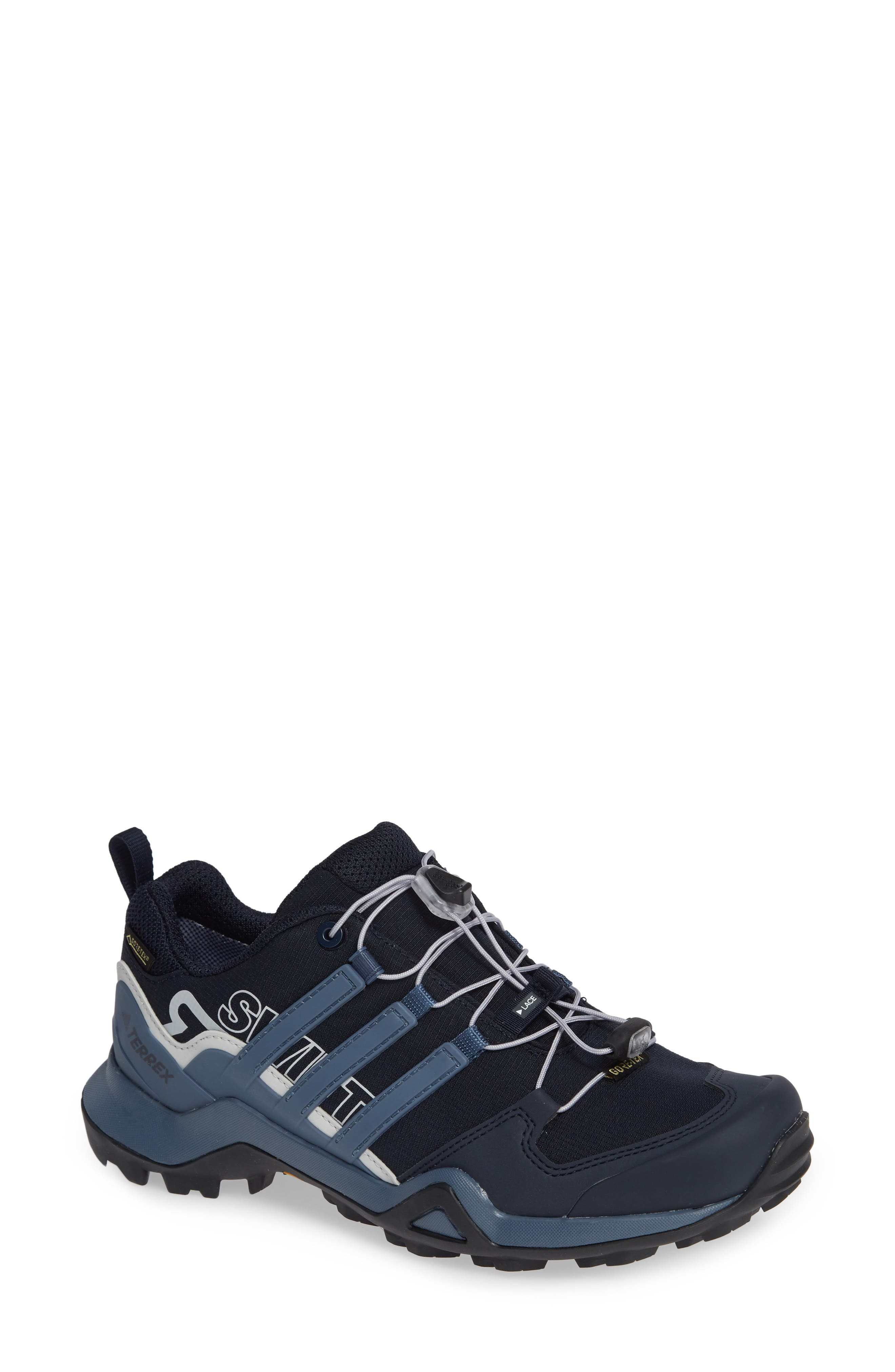 Terrex Swift R2 Gore-Tex<sup>®</sup> Hiking Shoe,                         Main,                         color, LEGEND INK/ TECH INK/ GREY