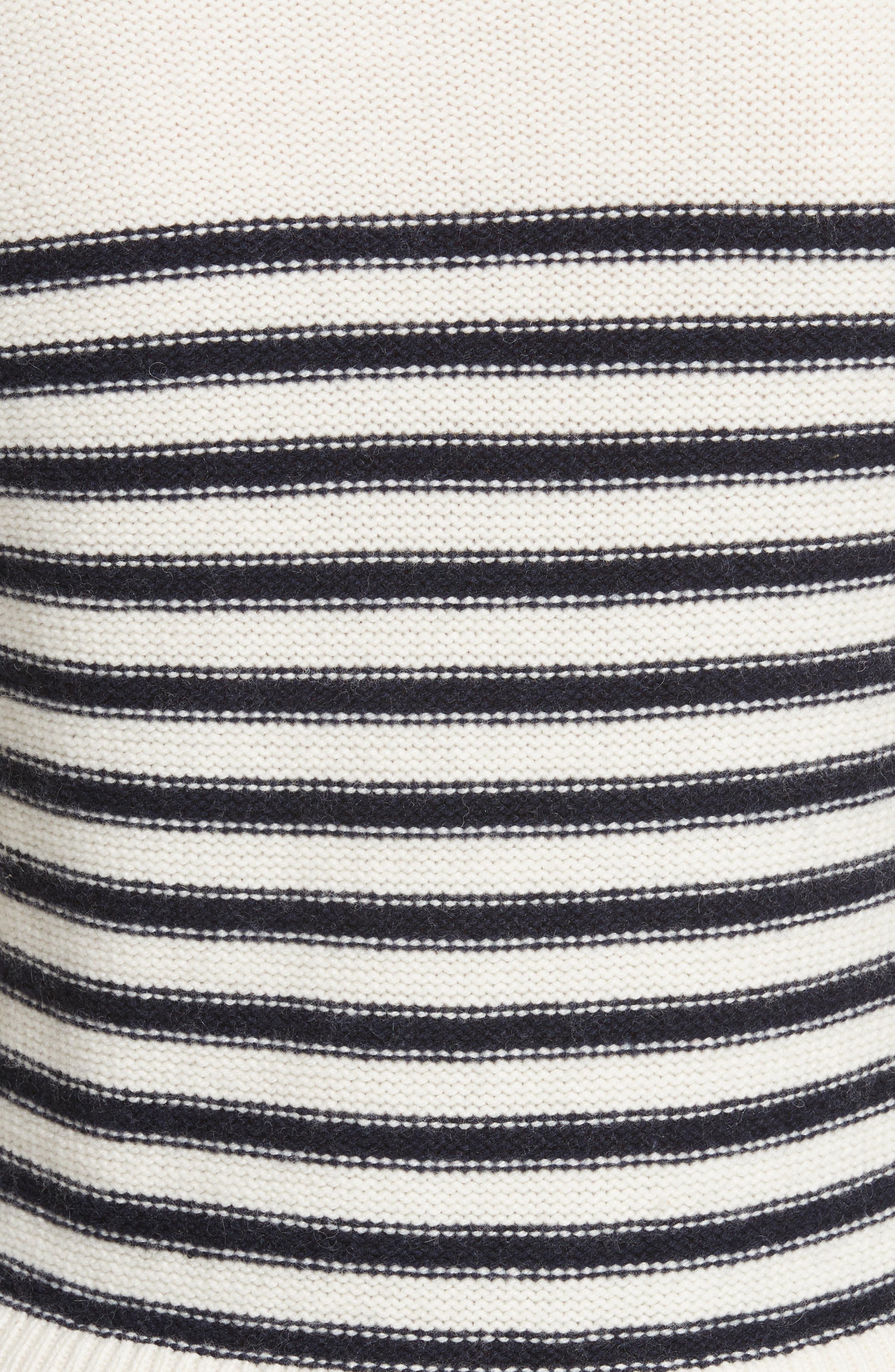navy stripe peplum sweater,                             Alternate thumbnail 5, color,