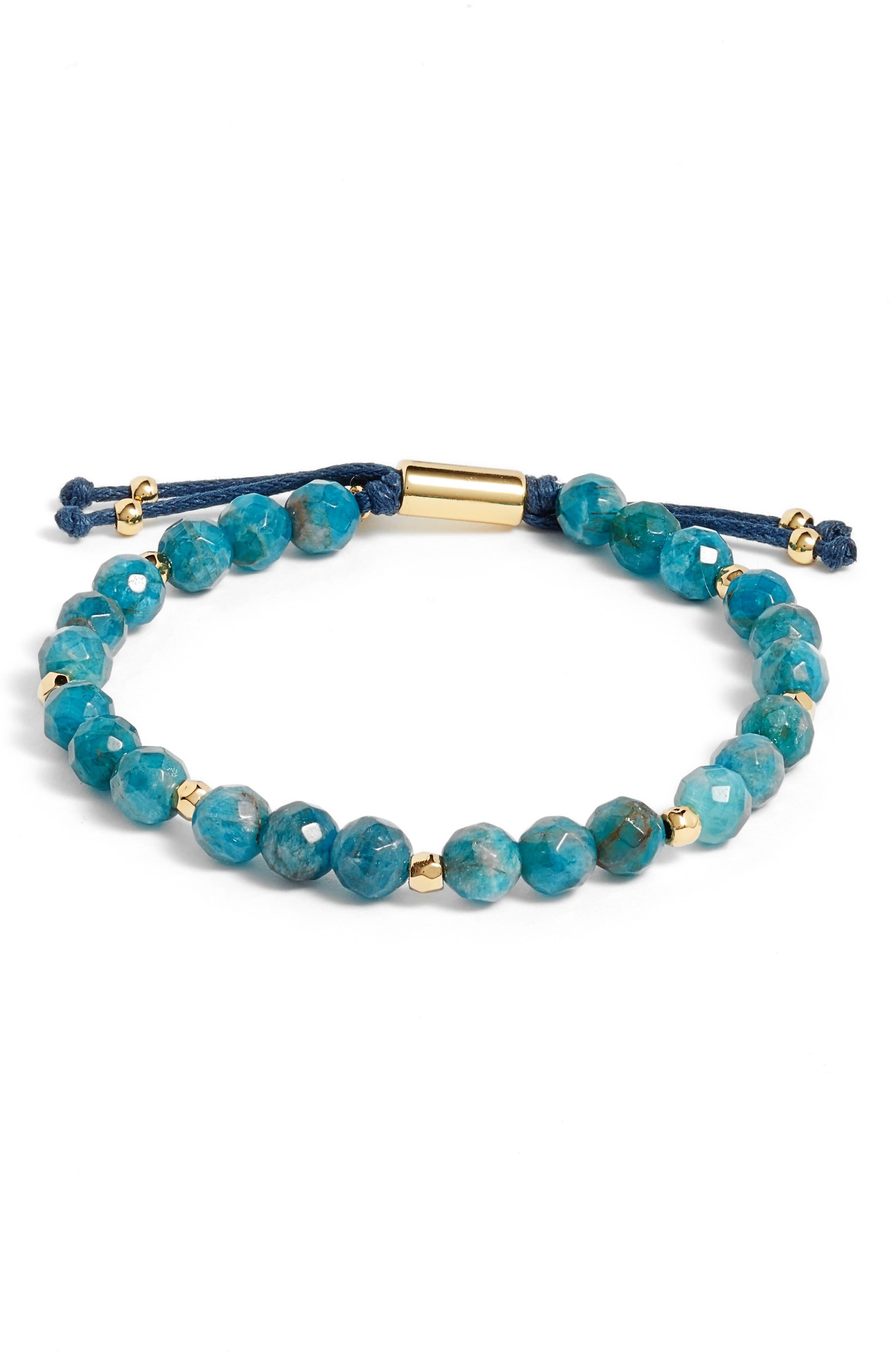 Inspiration Gemstone Bracelet,                             Main thumbnail 1, color,                             APATITE/ GOLD