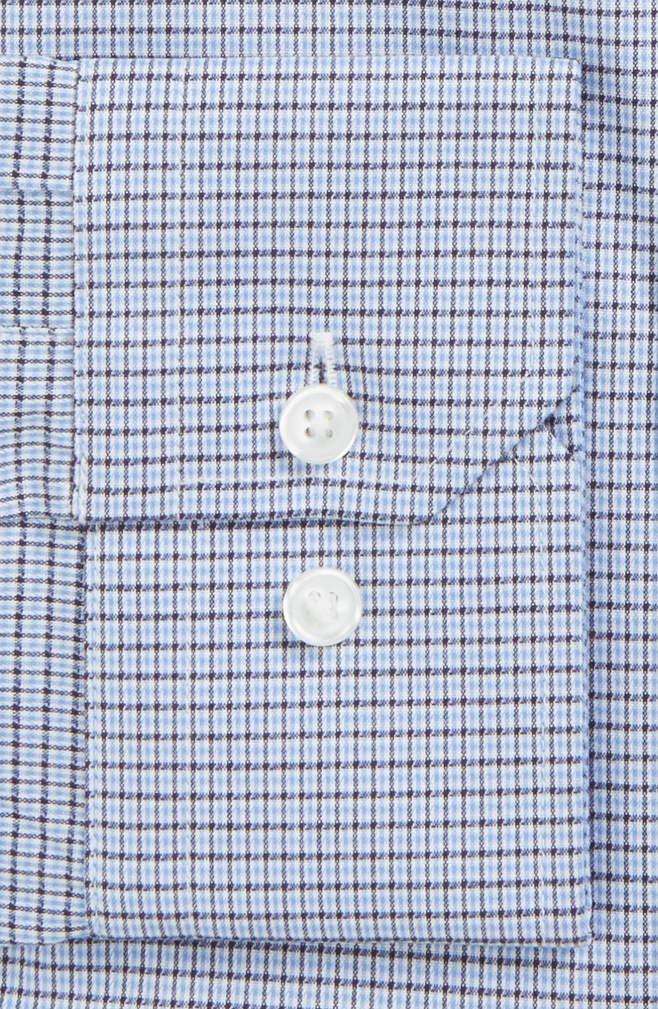 Trim Fit Non-Iron Check Stretch Dress Shirt,                             Alternate thumbnail 3, color,                             420