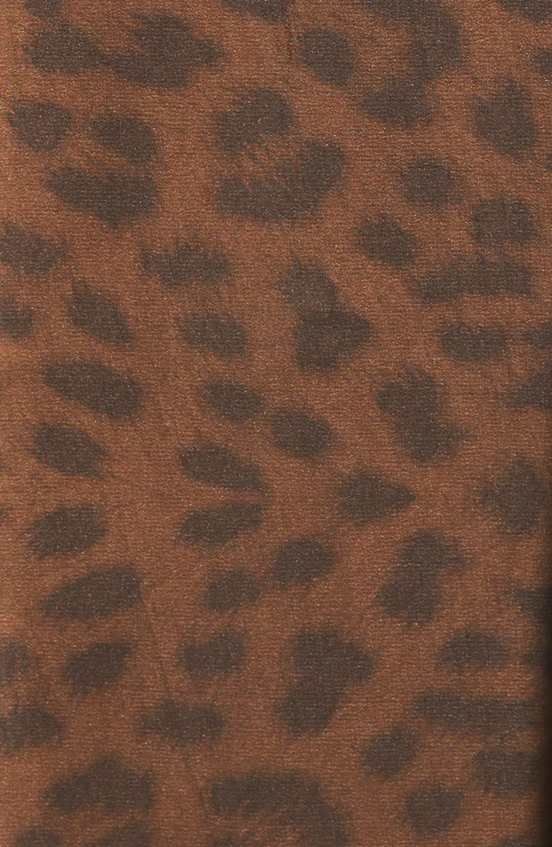 'Mini Donatella Leopard' Reversible Pleat Hood Packable Travel Coat,                             Alternate thumbnail 9, color,                             202