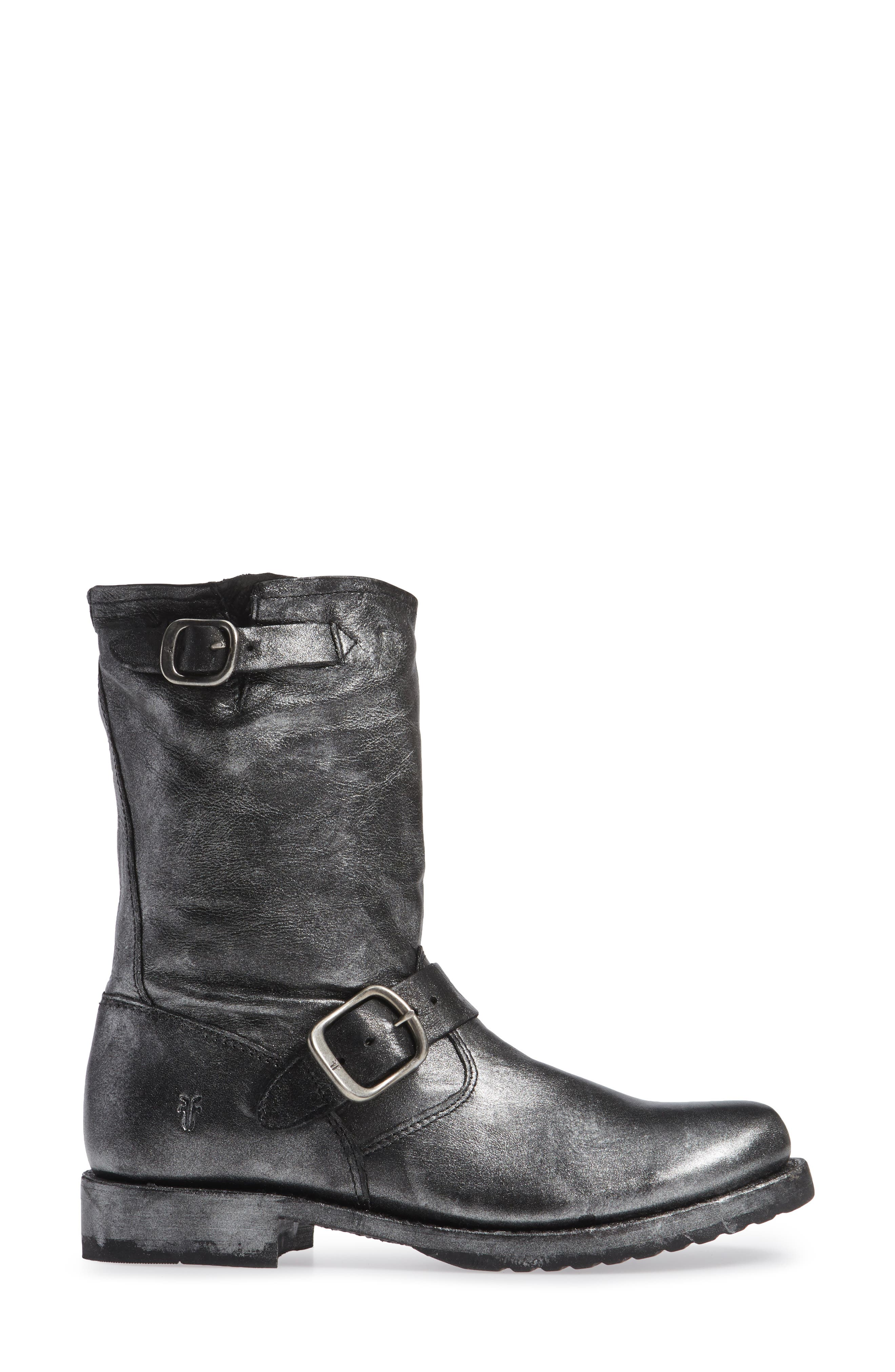'Veronica Short' Slouchy Boot,                             Alternate thumbnail 3, color,                             002