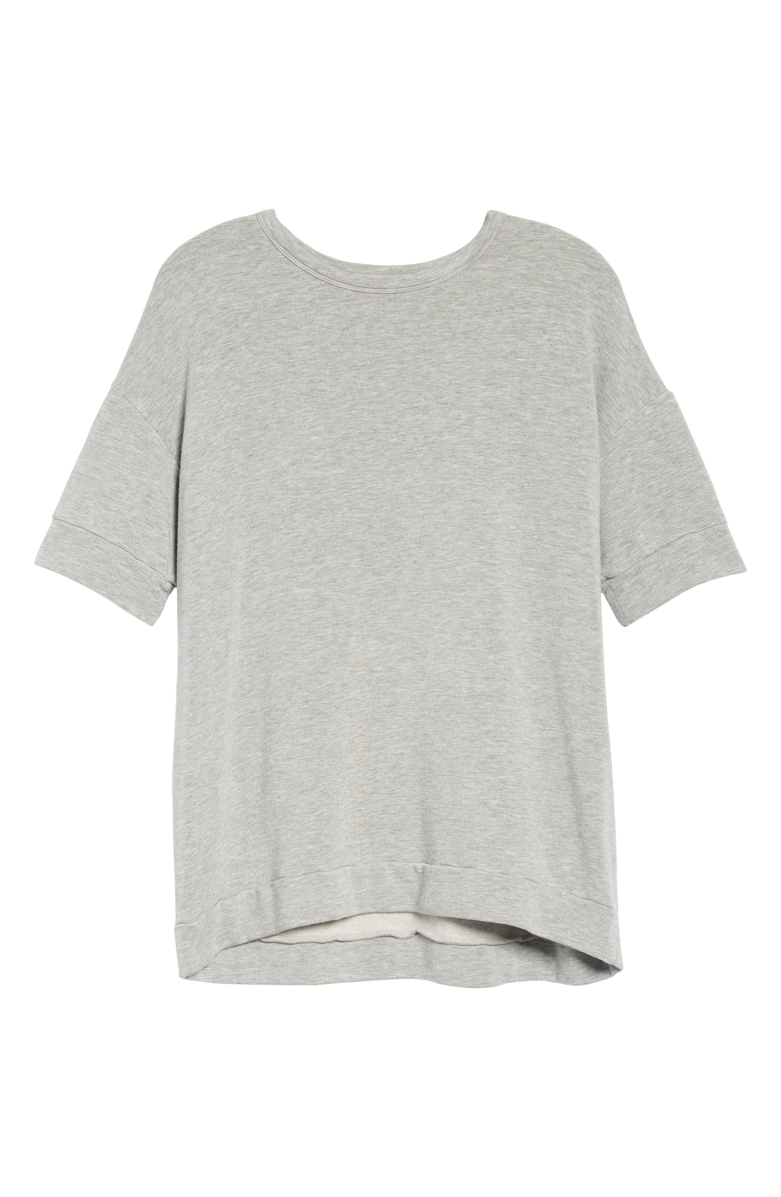 Short Sleeve Sweatshirt,                             Alternate thumbnail 6, color,                             050