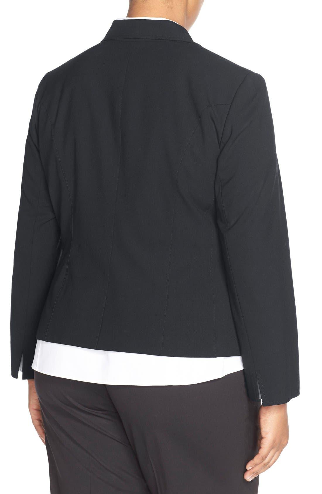 'Gladstone' Stretch Wool Jacket,                             Alternate thumbnail 2, color,                             NAVY