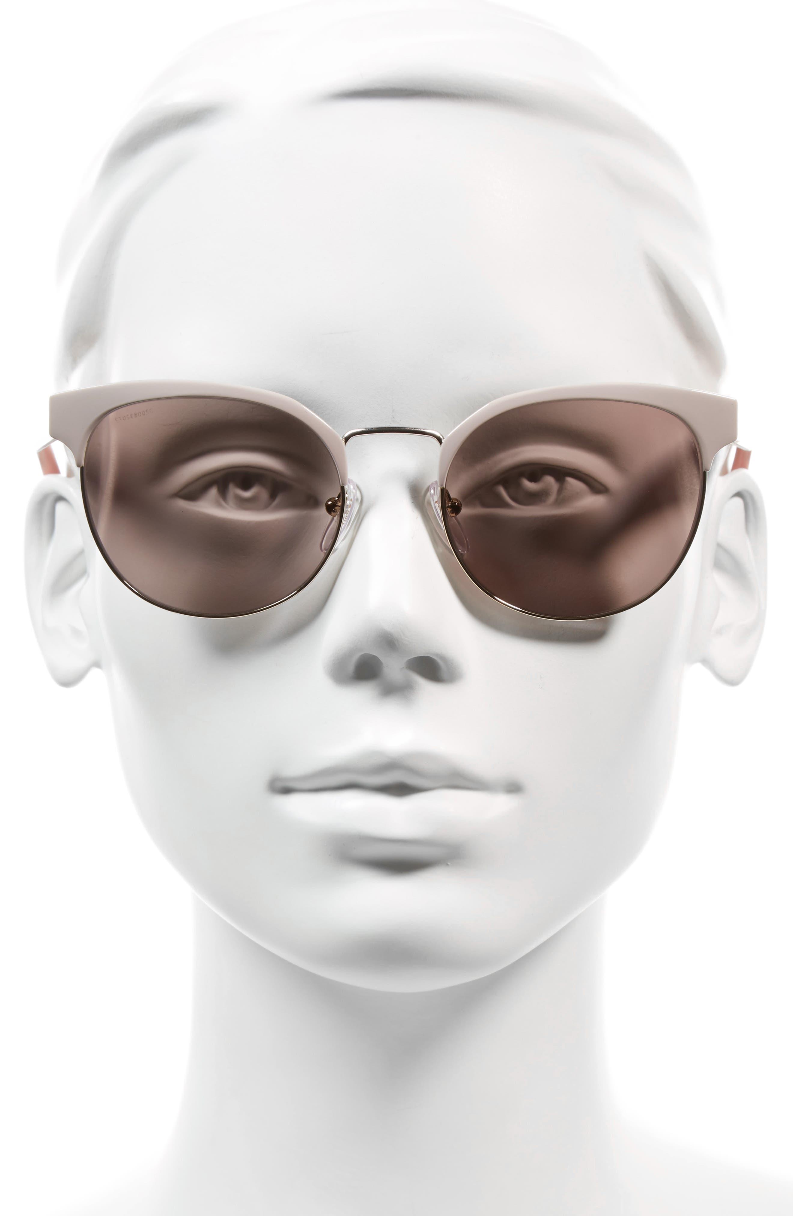 54mm Gradient Round Sunglasses,                             Alternate thumbnail 5, color,