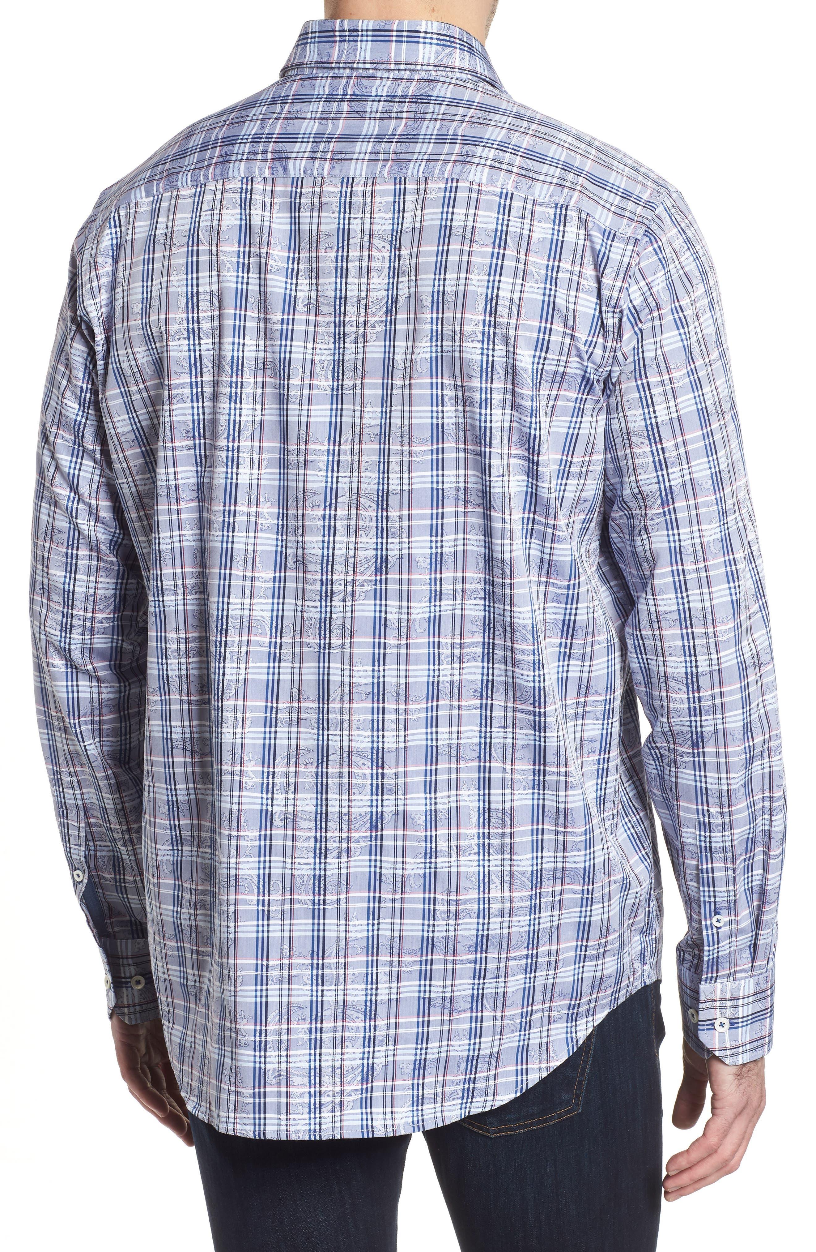 Classic Fit Check Paisley Sport Shirt,                             Alternate thumbnail 2, color,                             422