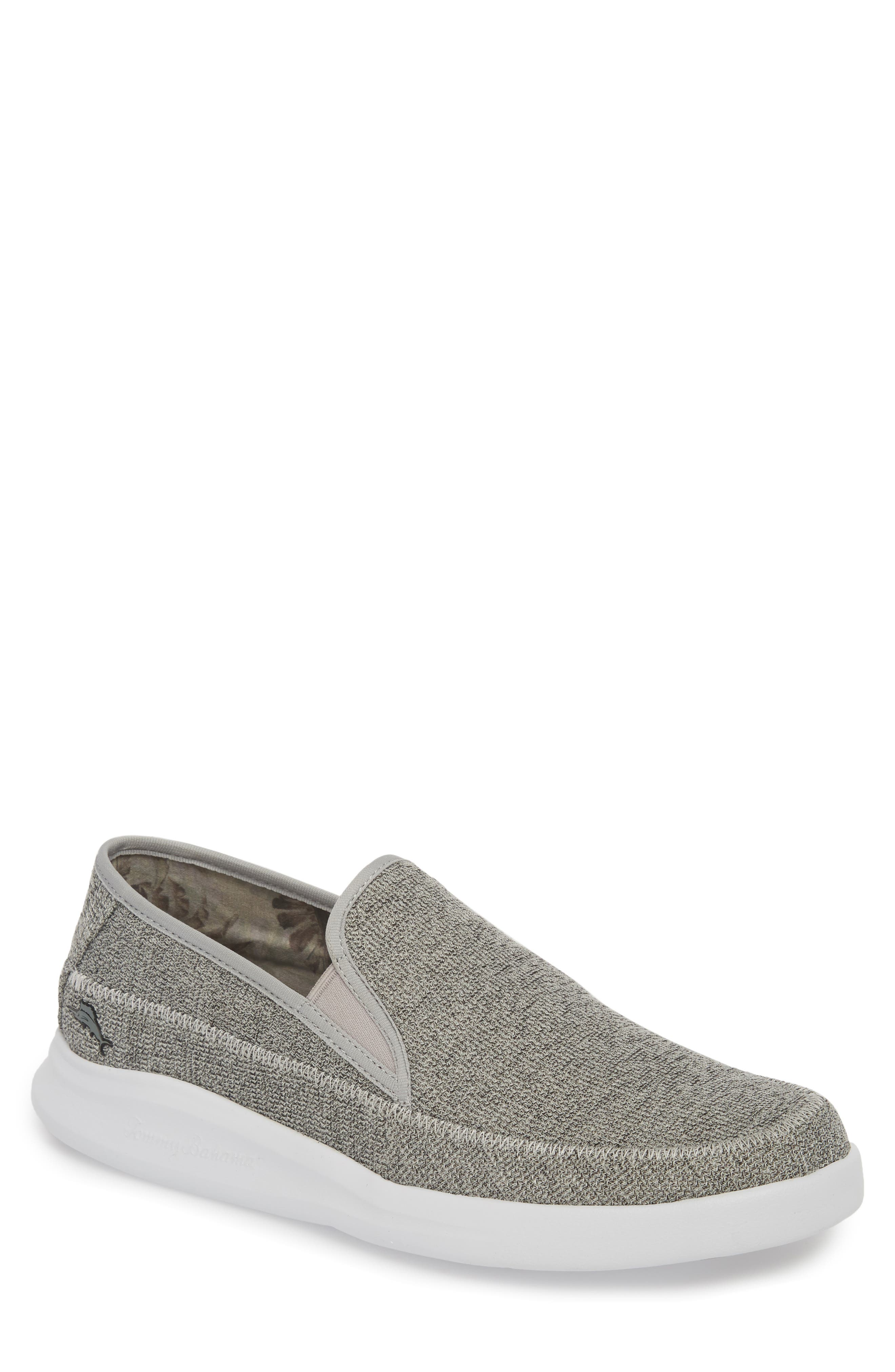 Acklins Relaxology Slip-On,                             Main thumbnail 1, color,                             LIGHT GREY TEXTILE