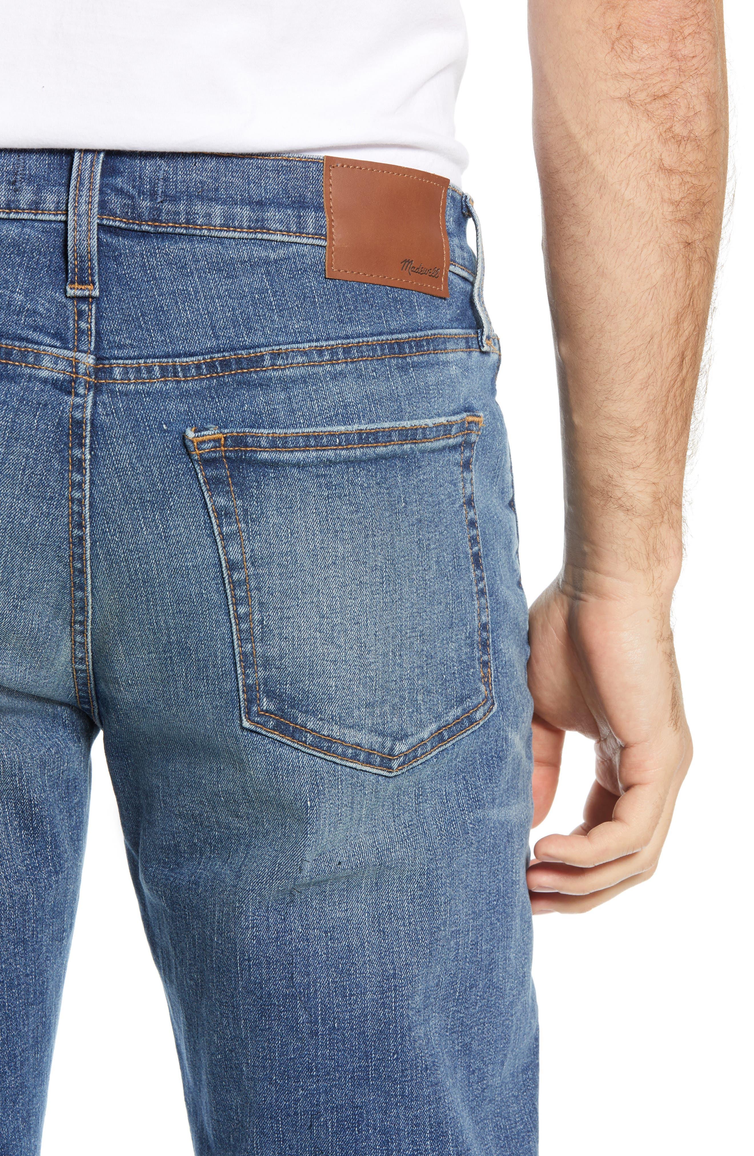 MADEWELL,                             Straight Leg Jeans,                             Alternate thumbnail 4, color,                             ARCWOOD