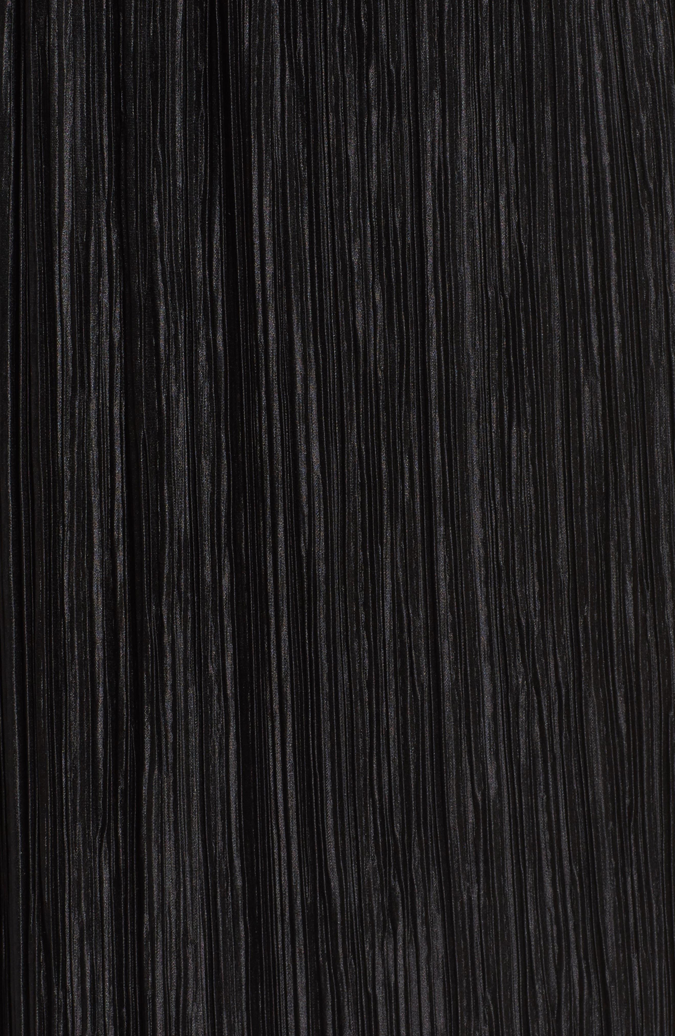 Crinkle Midi Skirt,                             Alternate thumbnail 5, color,                             001