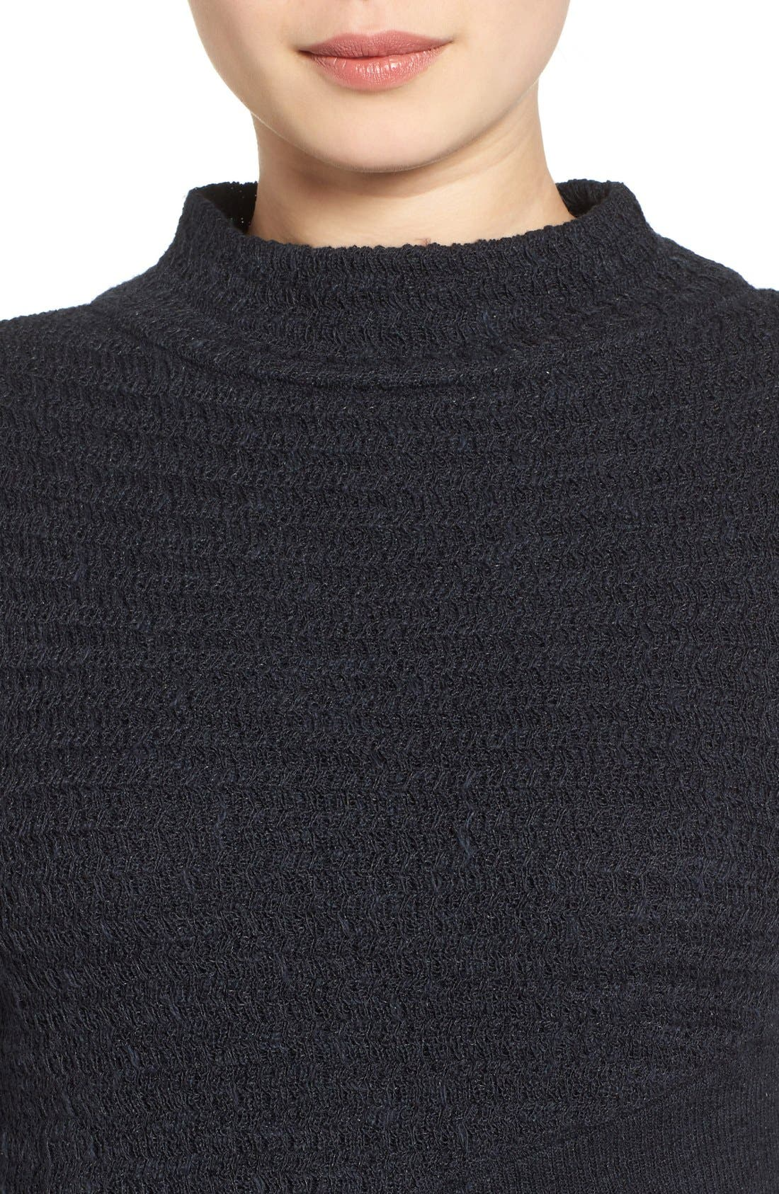 Crossover Sweater,                             Alternate thumbnail 6, color,                             001