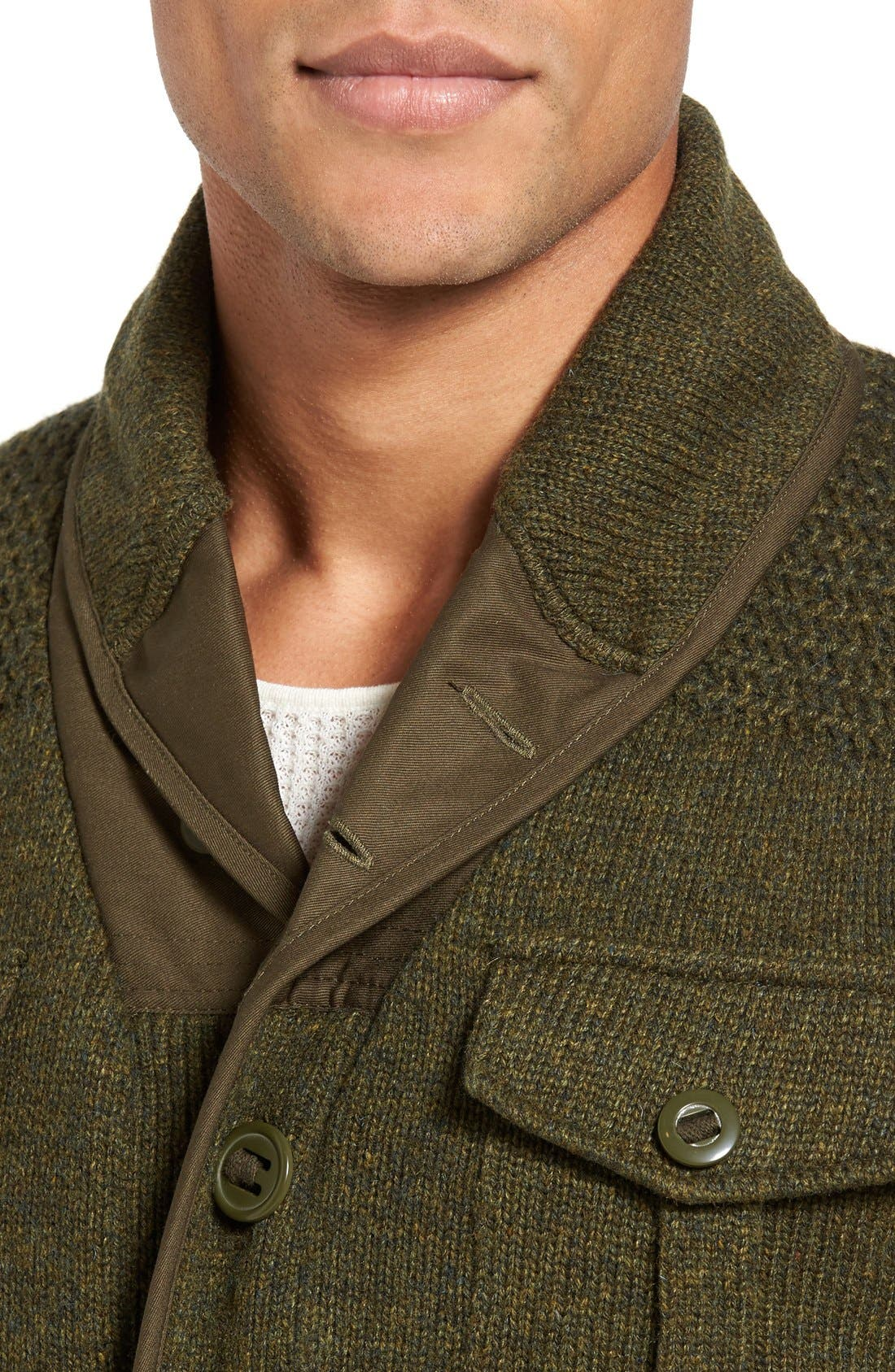 Military Sherpa-Lined Sweater Jacket,                             Alternate thumbnail 18, color,