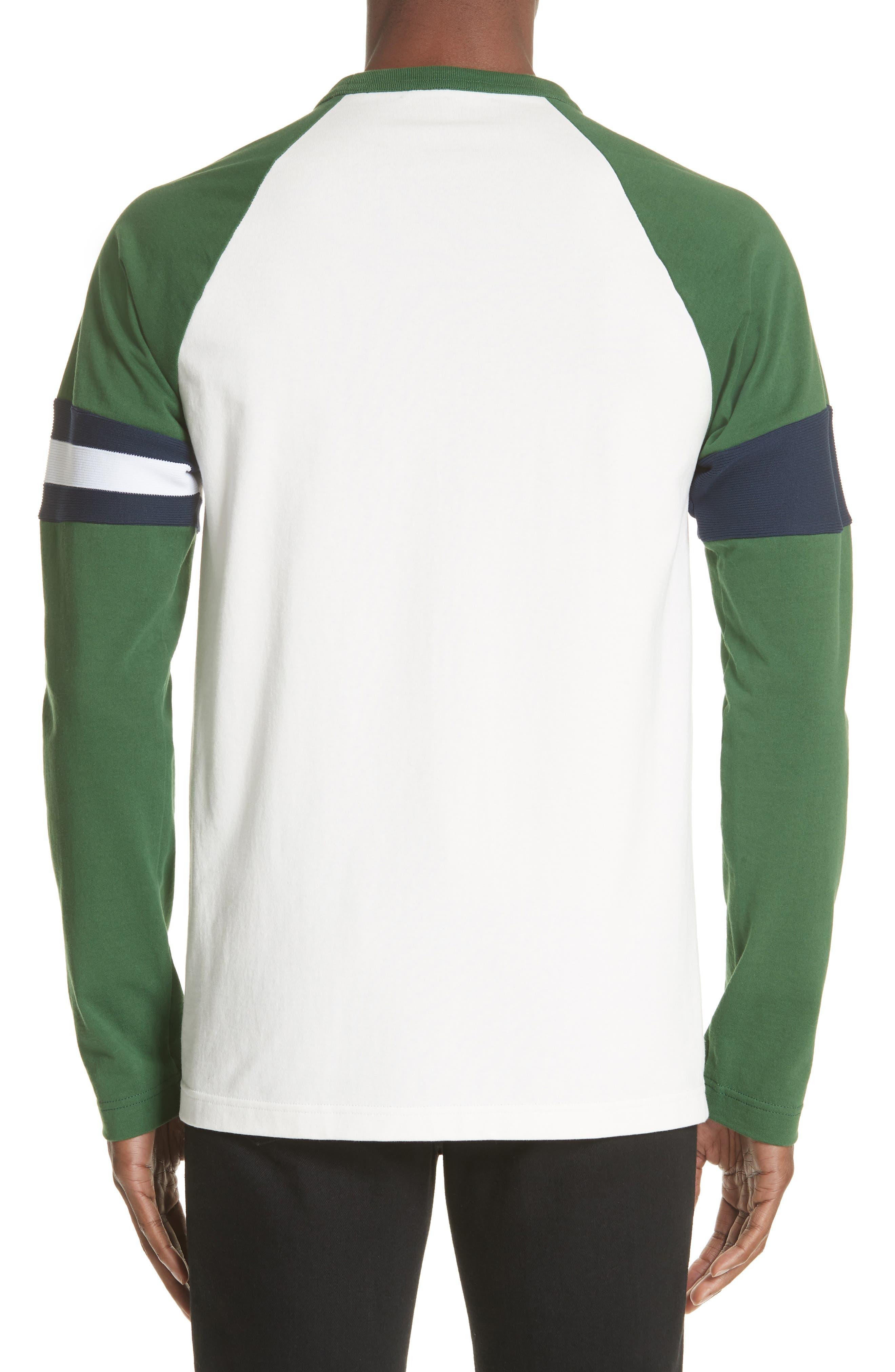 Long Sleeve Varsity T-Shirt,                             Alternate thumbnail 2, color,                             WHITE