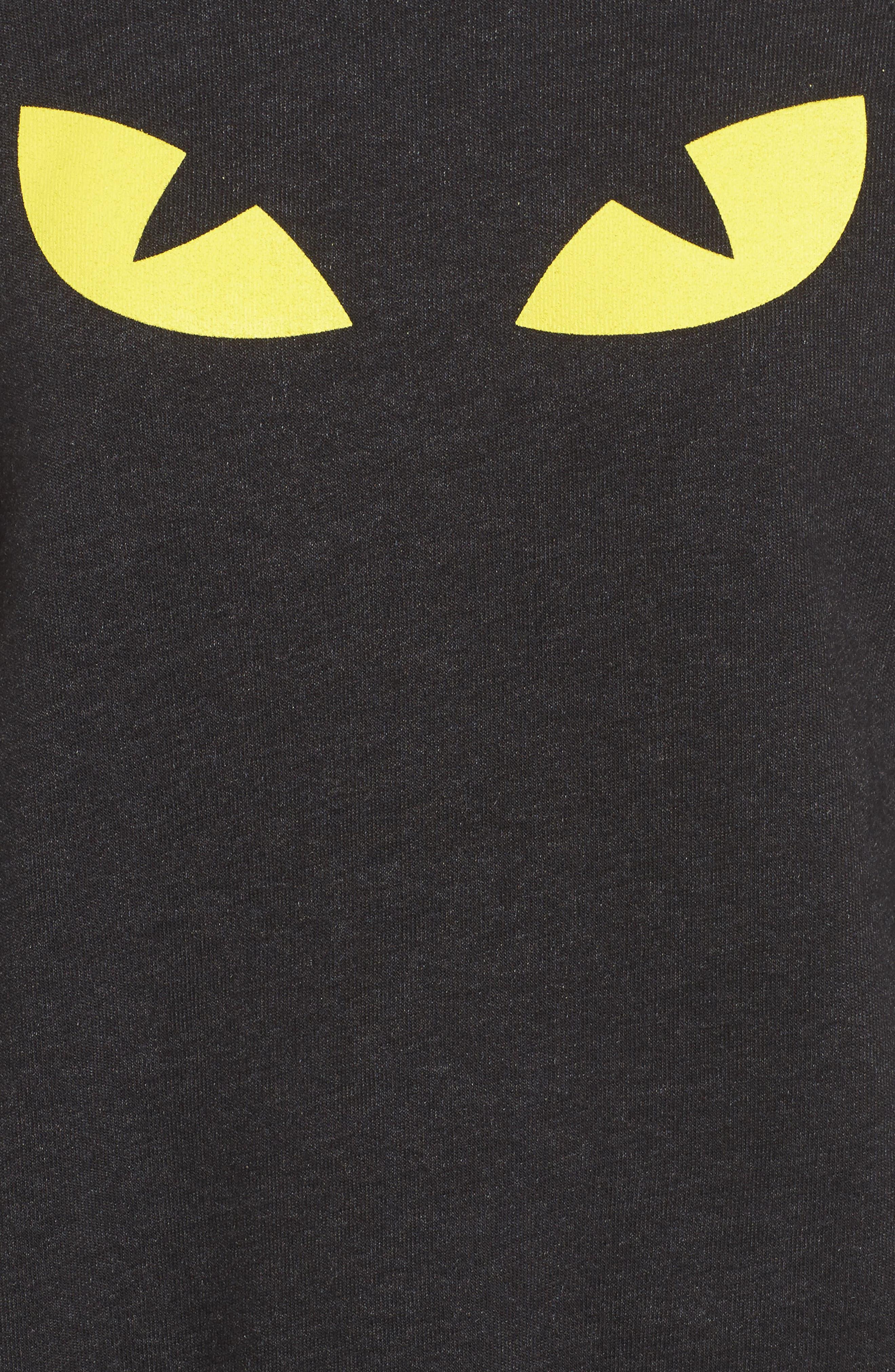 WILDFOX,                             I'm a Cat Sommer Sweatshirt,                             Alternate thumbnail 5, color,                             001