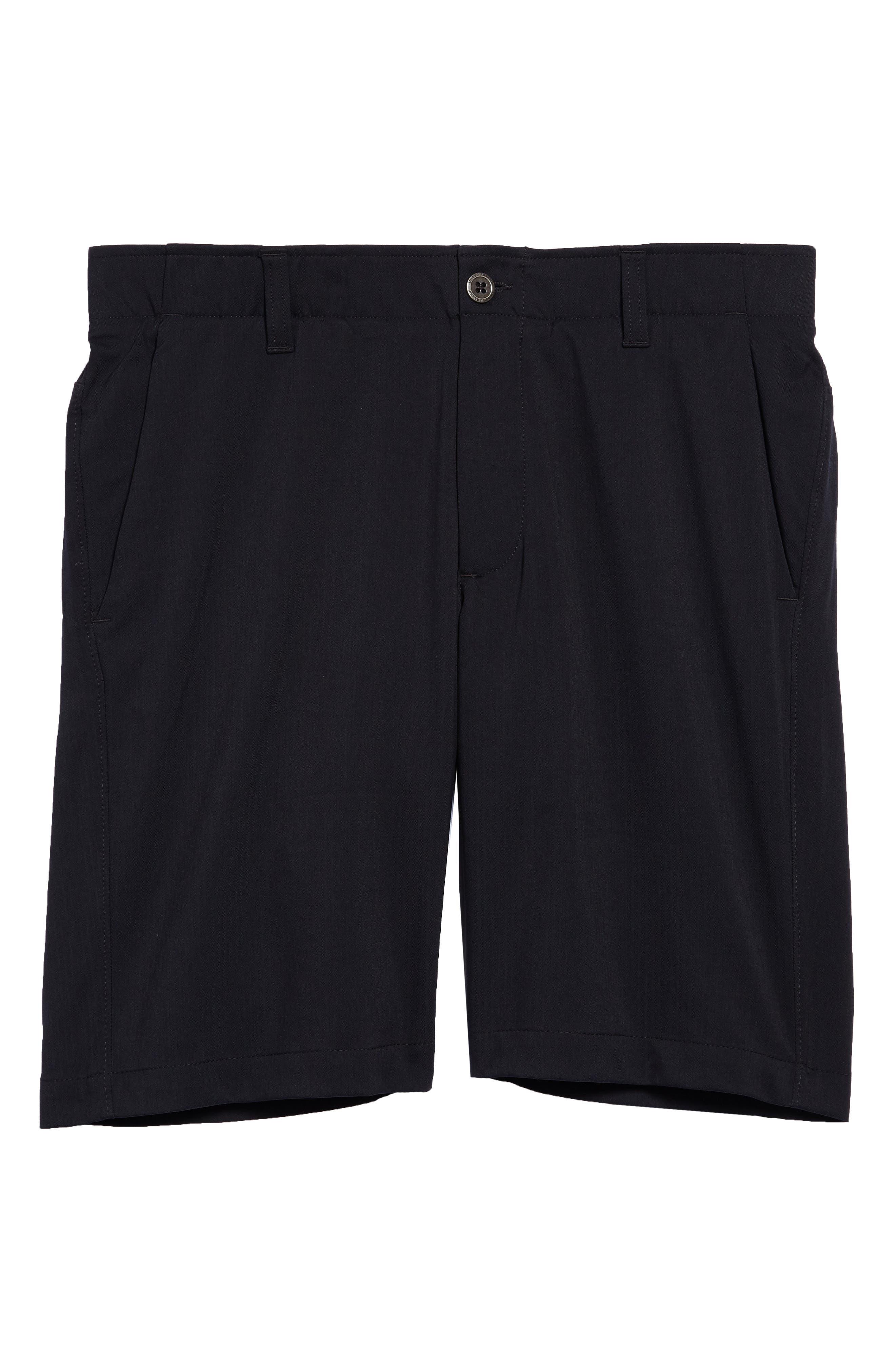Takeover Regular Fit Golf Shorts,                             Alternate thumbnail 6, color,                             BLACK