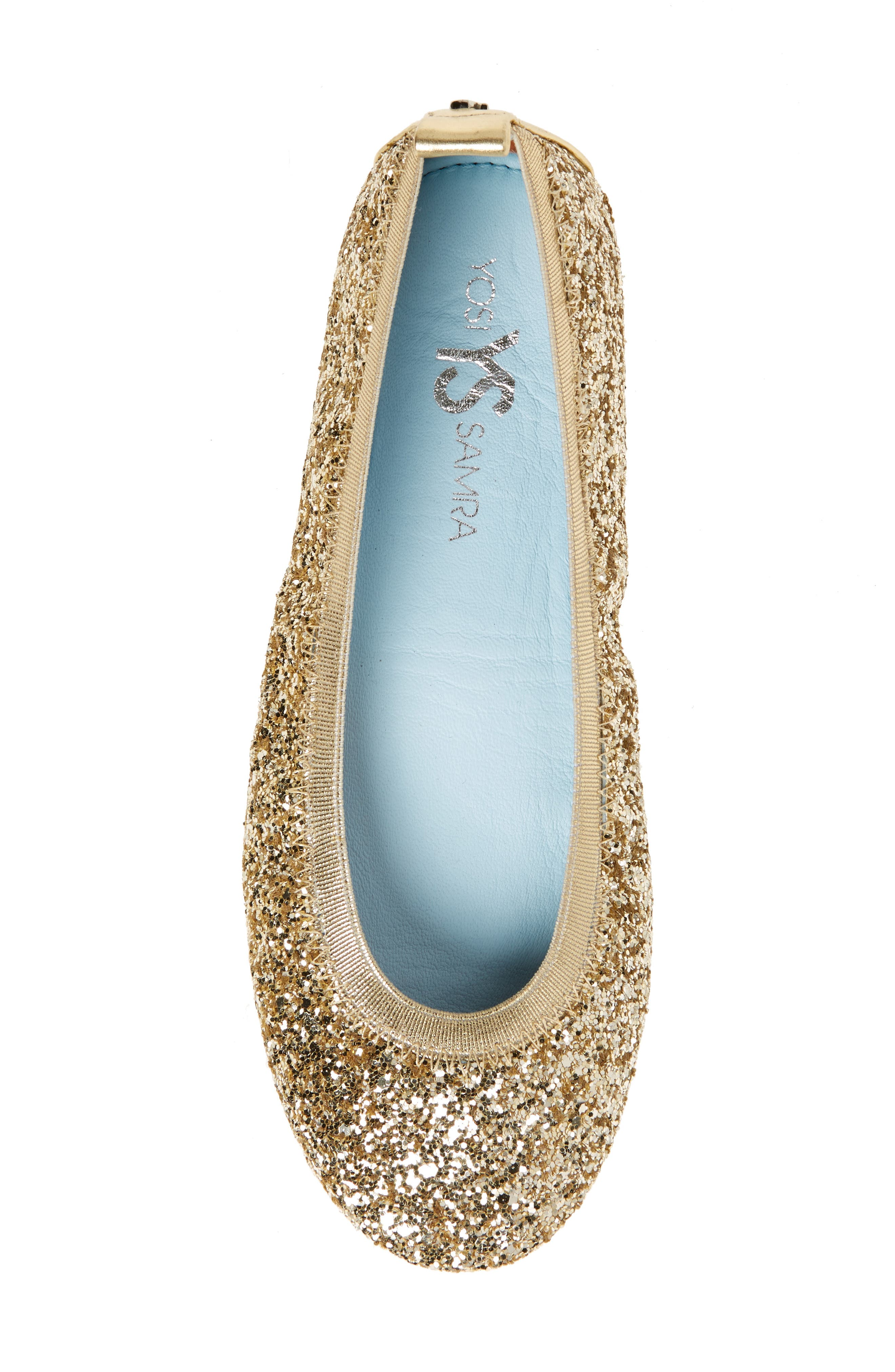 Serna Foldable Glitter Ballet Flat,                             Alternate thumbnail 20, color,