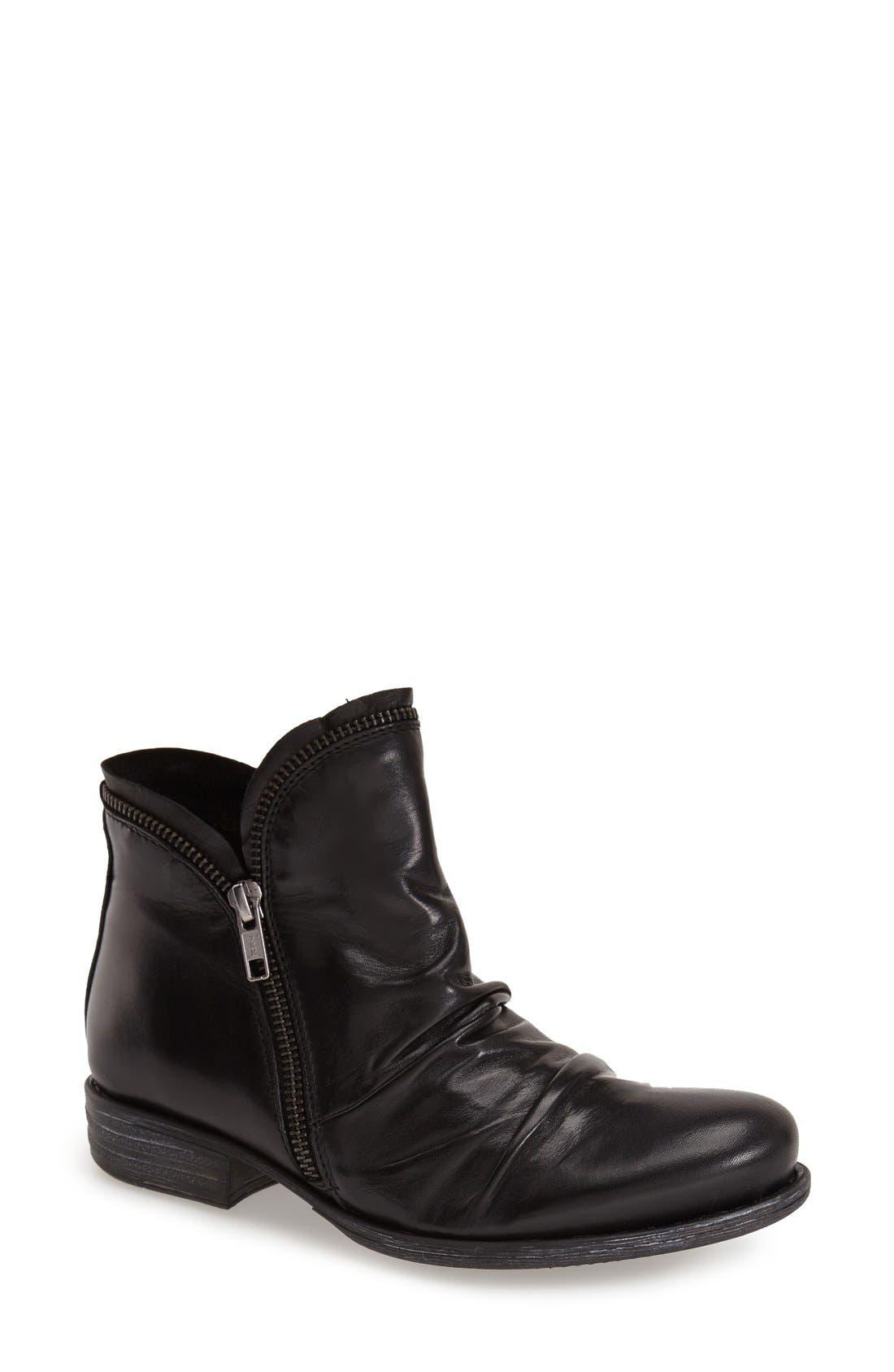 'Luna' Ankle Boot,                             Main thumbnail 1, color,                             BLACK