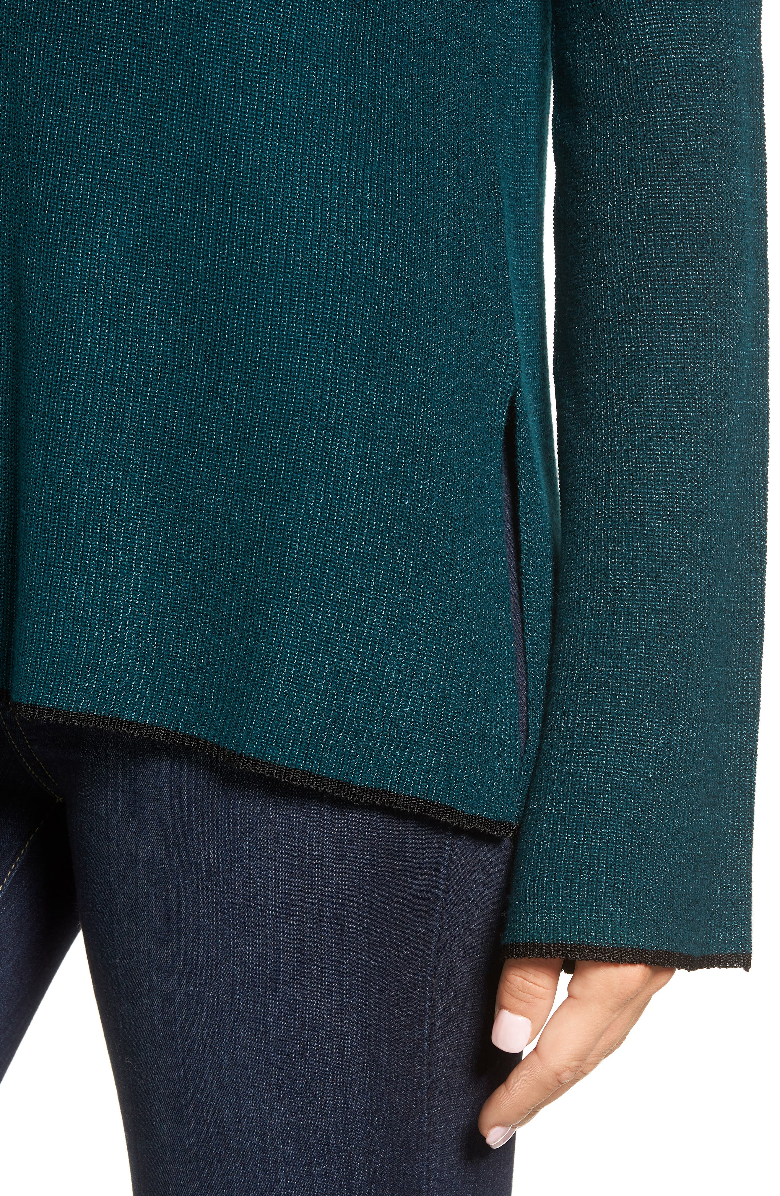 Tipped Bell Sleeve Sweater,                             Alternate thumbnail 26, color,