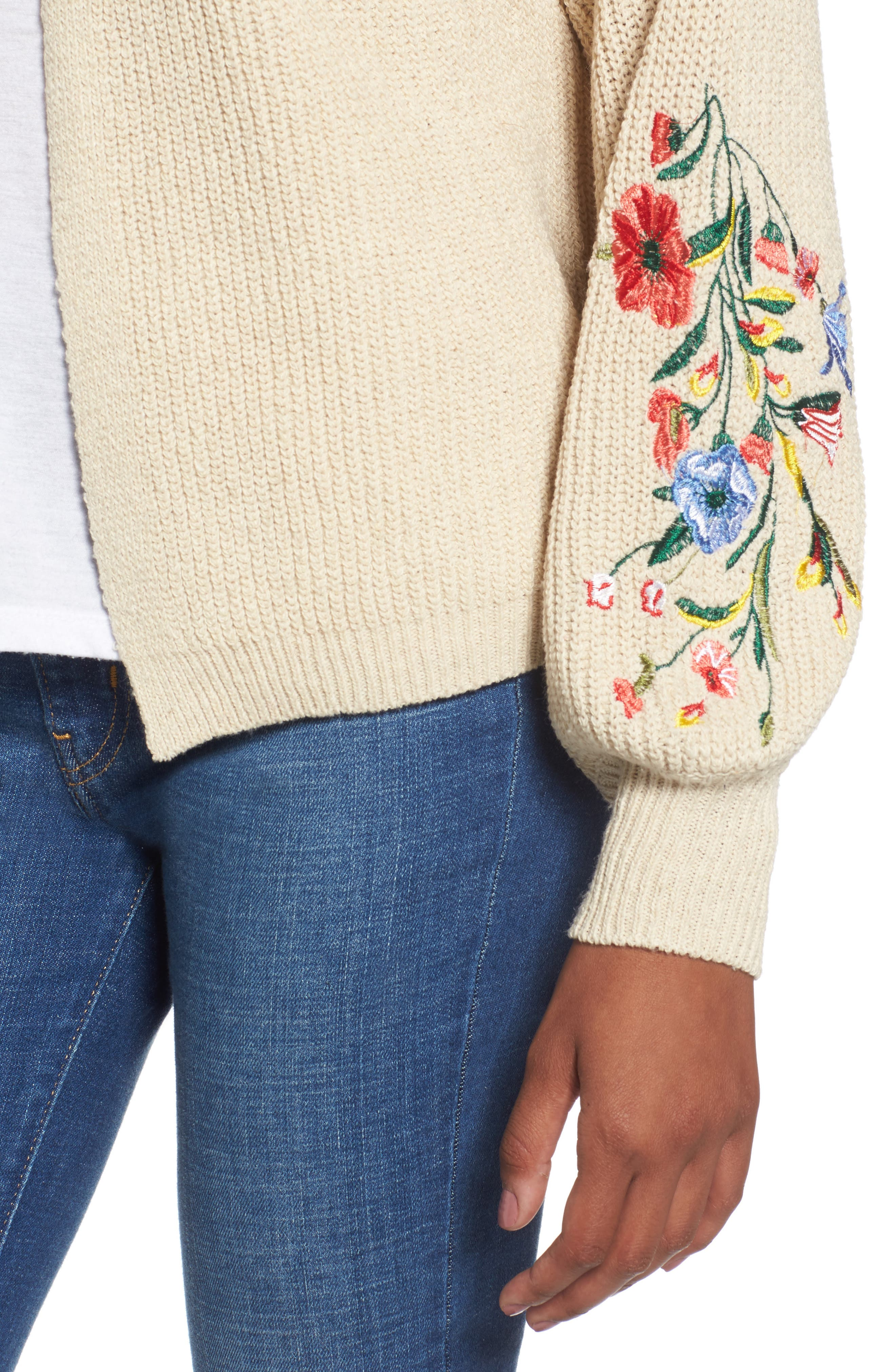 Embroidered Cardigan,                             Alternate thumbnail 4, color,                             250