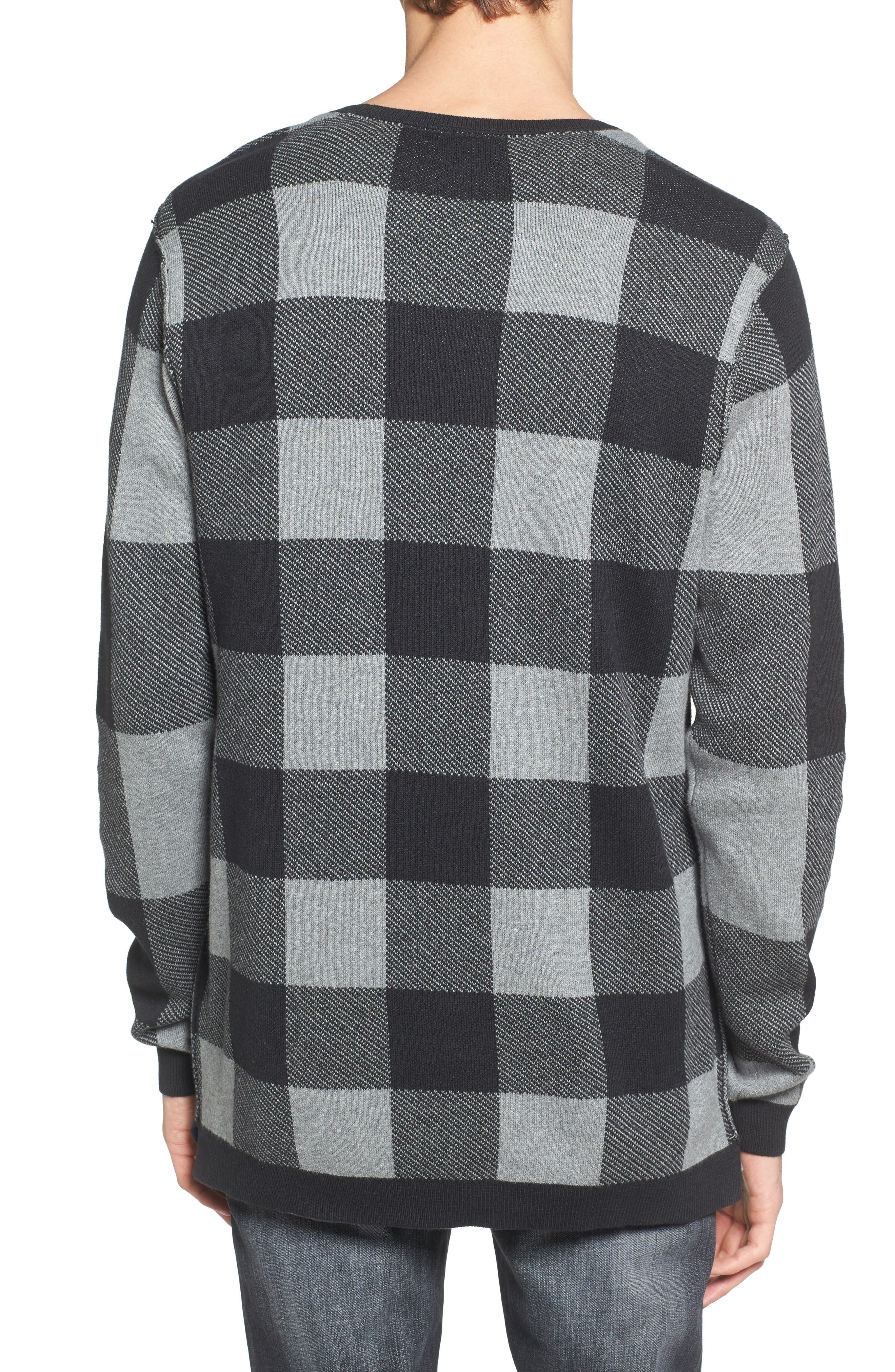 Oversize Buffalo Check Sweater,                             Alternate thumbnail 2, color,                             030