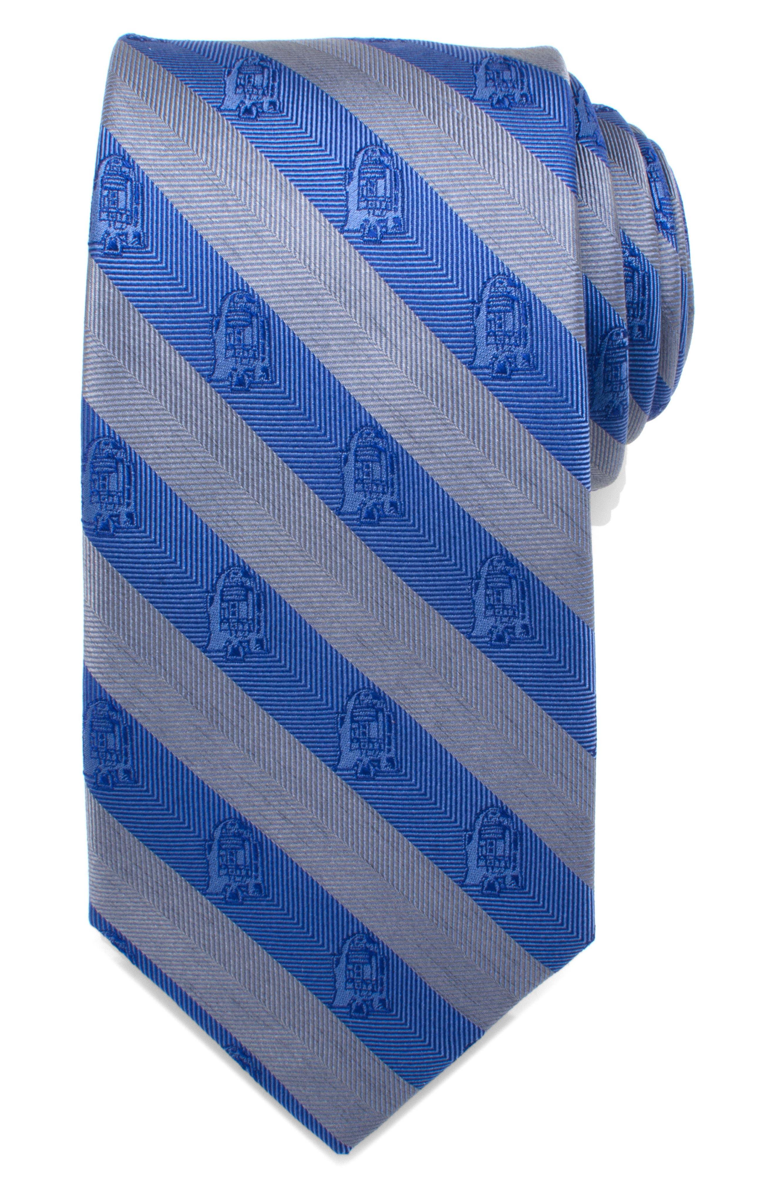 Star Wars<sup>™</sup> R2D2 Silk Tie,                             Main thumbnail 1, color,                             BLUE