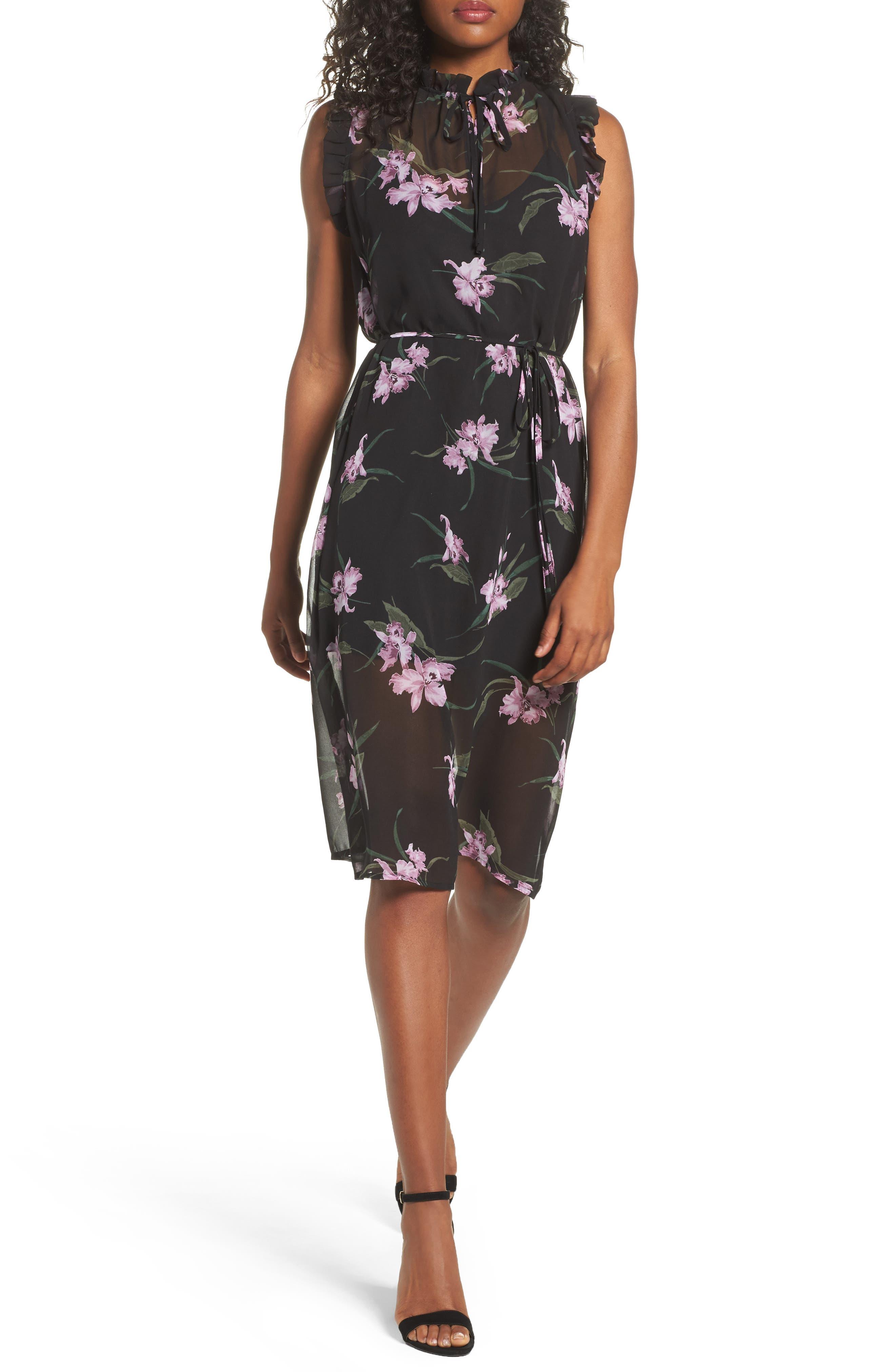 Sarah High Neck Dress,                             Main thumbnail 1, color,                             001