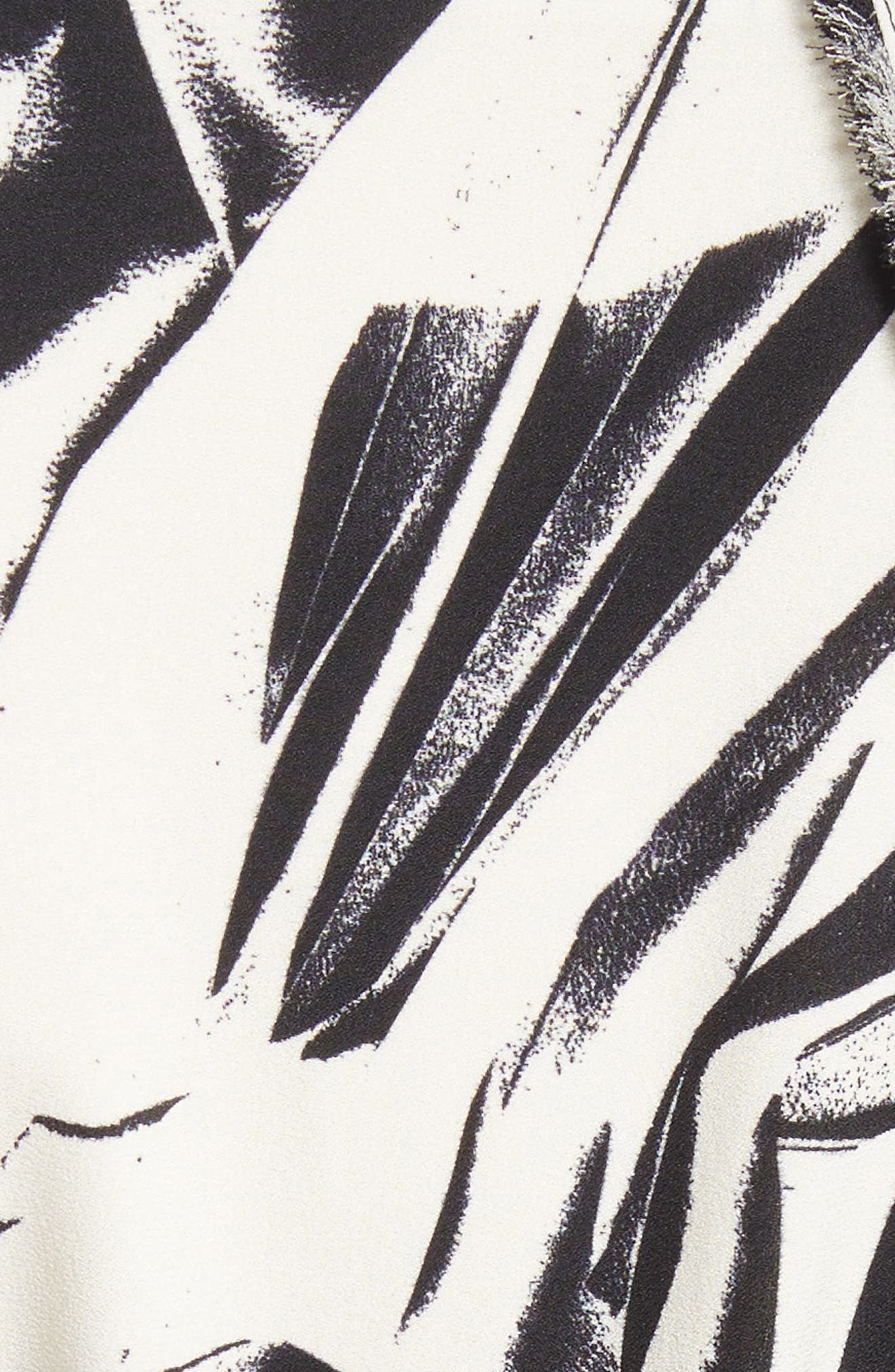Print Silk Georgette Maxi Dress,                             Alternate thumbnail 6, color,                             001