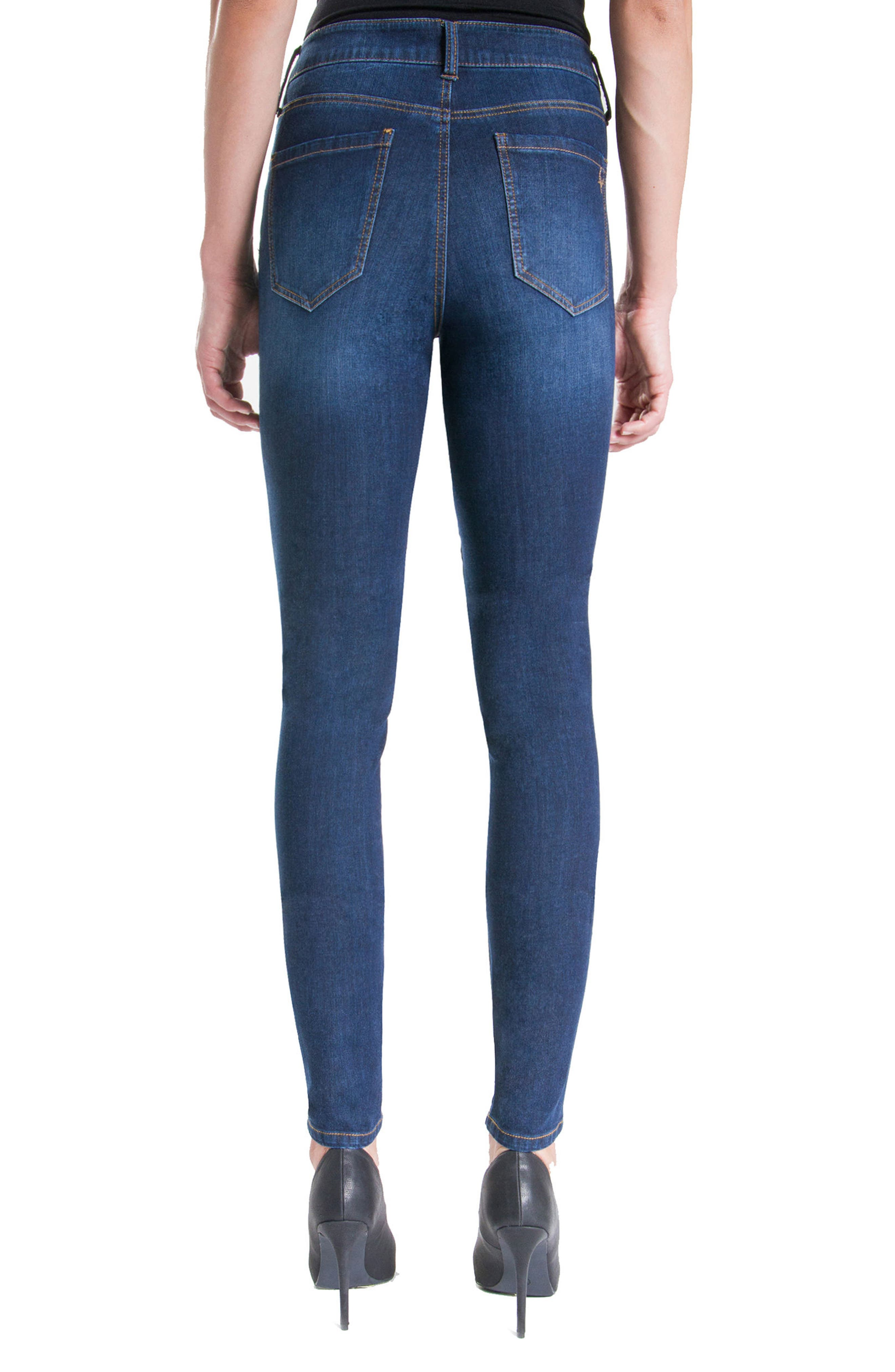 Abby Stretch Skinny Jeans,                             Alternate thumbnail 2, color,                             401