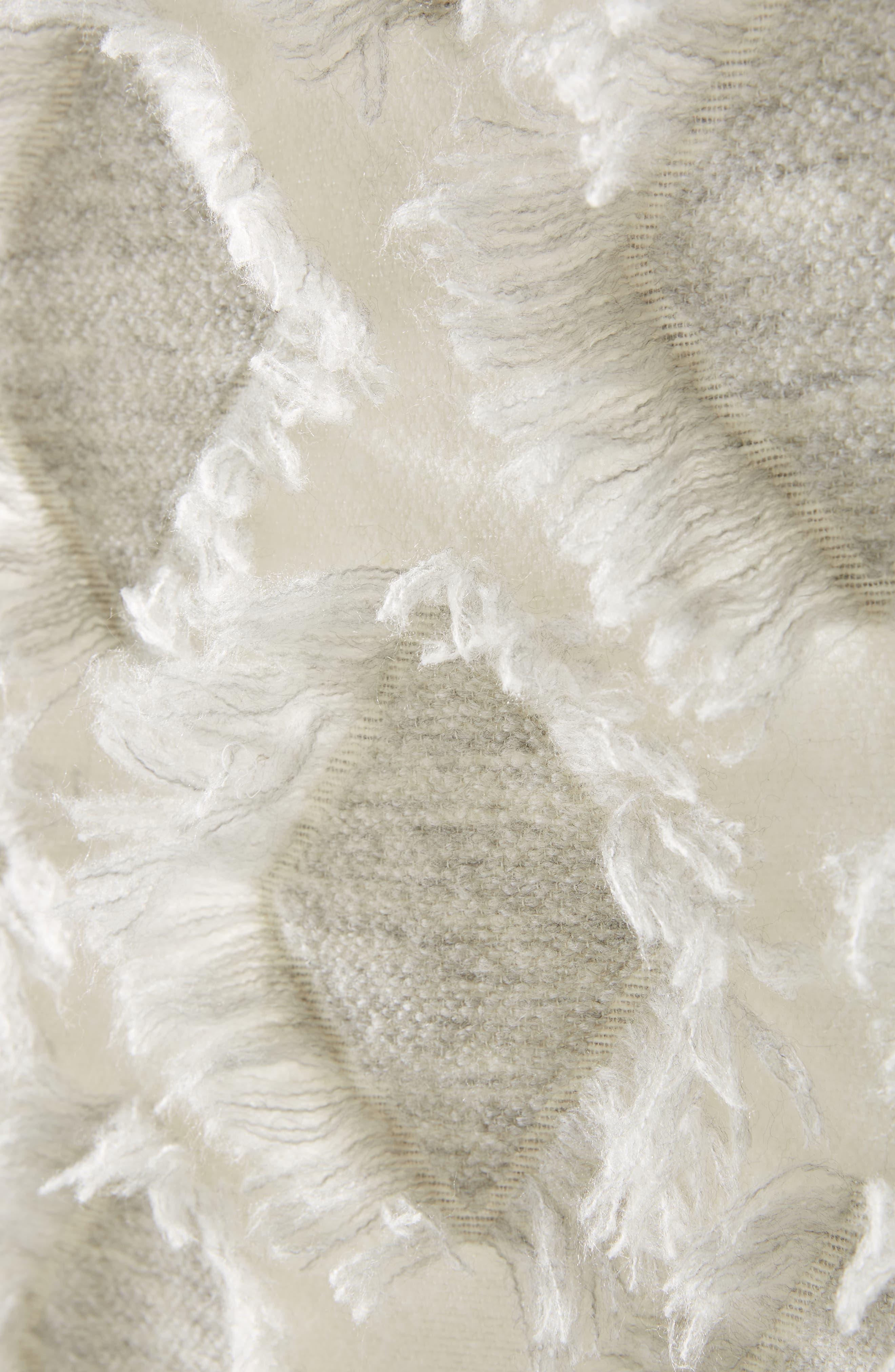 Augusta Throw Blanket,                             Alternate thumbnail 2, color,                             GREY