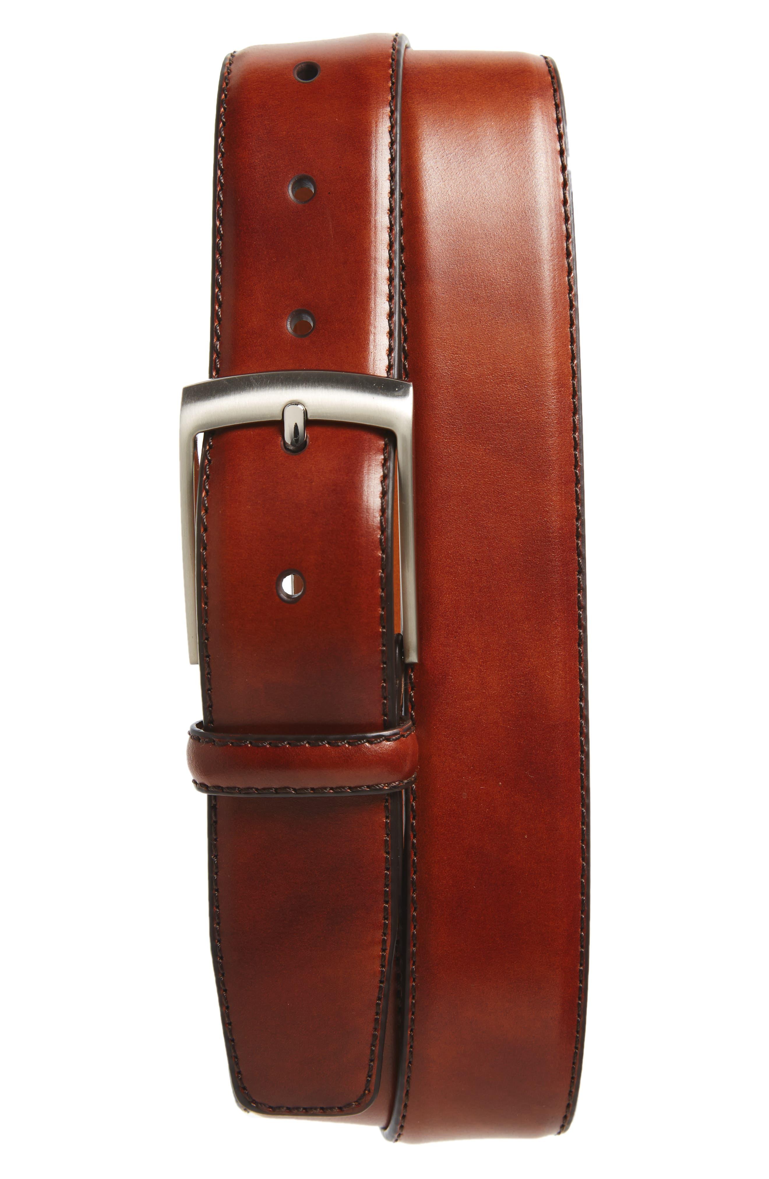 Magnanni Tabon Leather Belt, Cognac