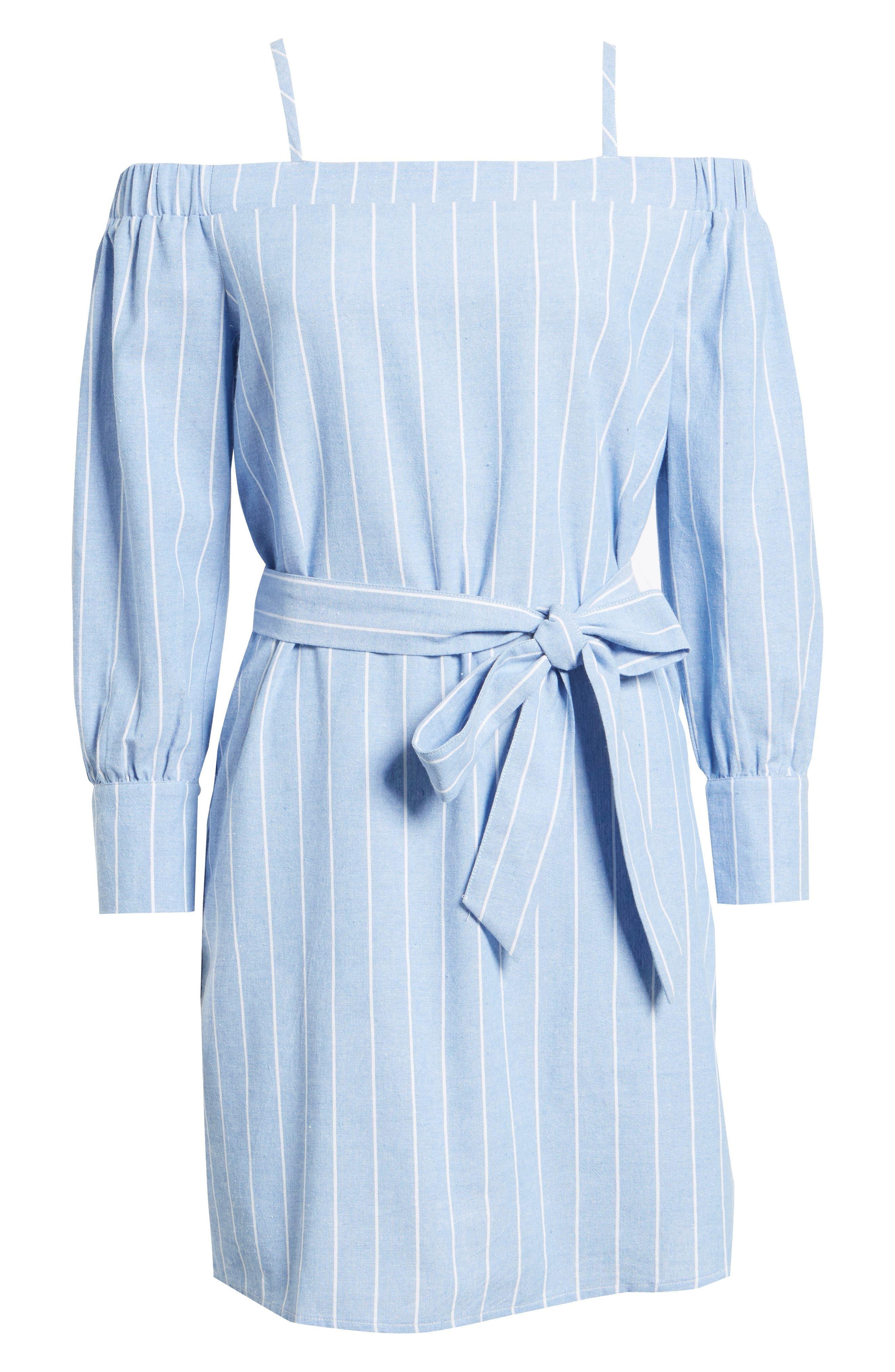 Bishop + Young Chrissy Cold Shoulder Dress,                             Alternate thumbnail 6, color,                             400