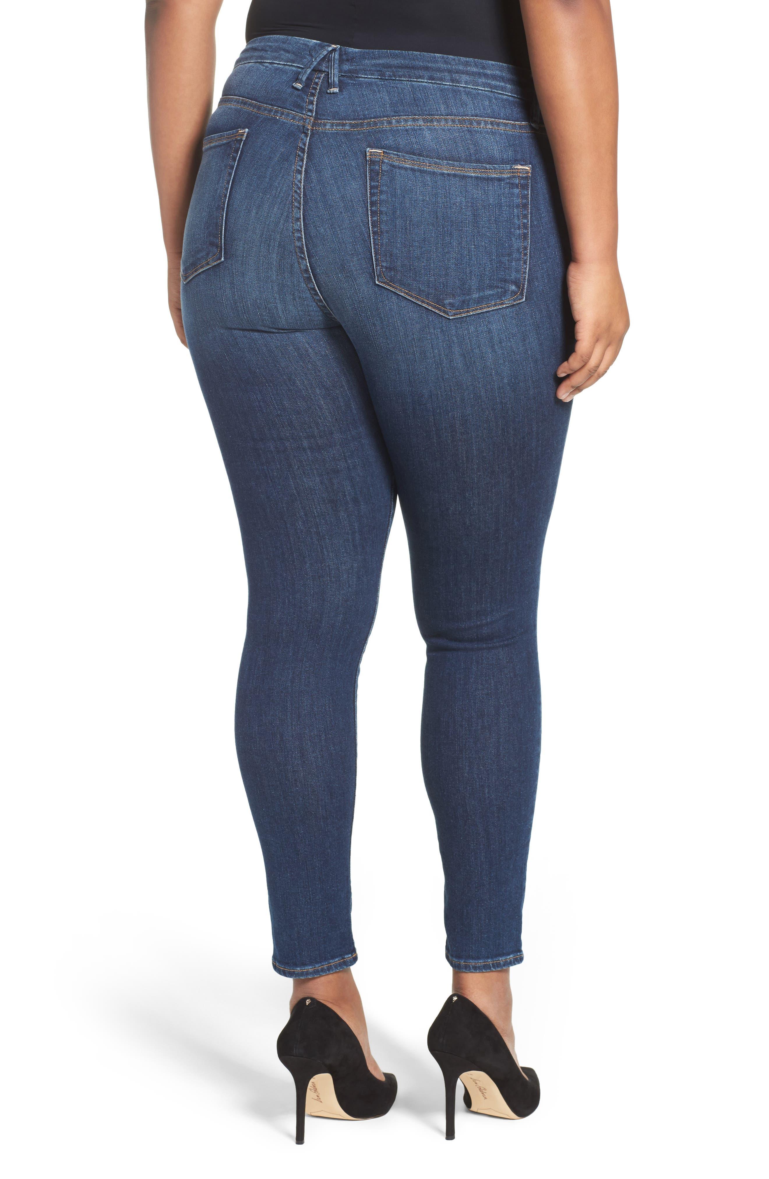 Good Legs High Rise Skinny Jeans,                             Alternate thumbnail 7, color,                             BLUE 004