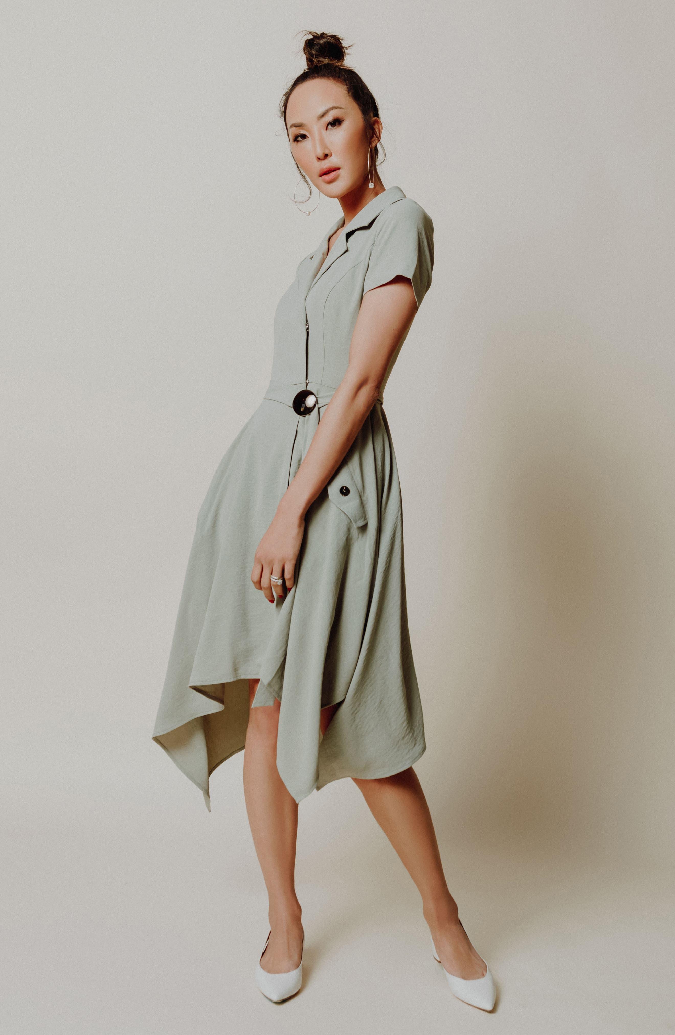 Chriselle x J.O.A. Asymmetrical Trench Dress,                             Alternate thumbnail 9, color,                             300